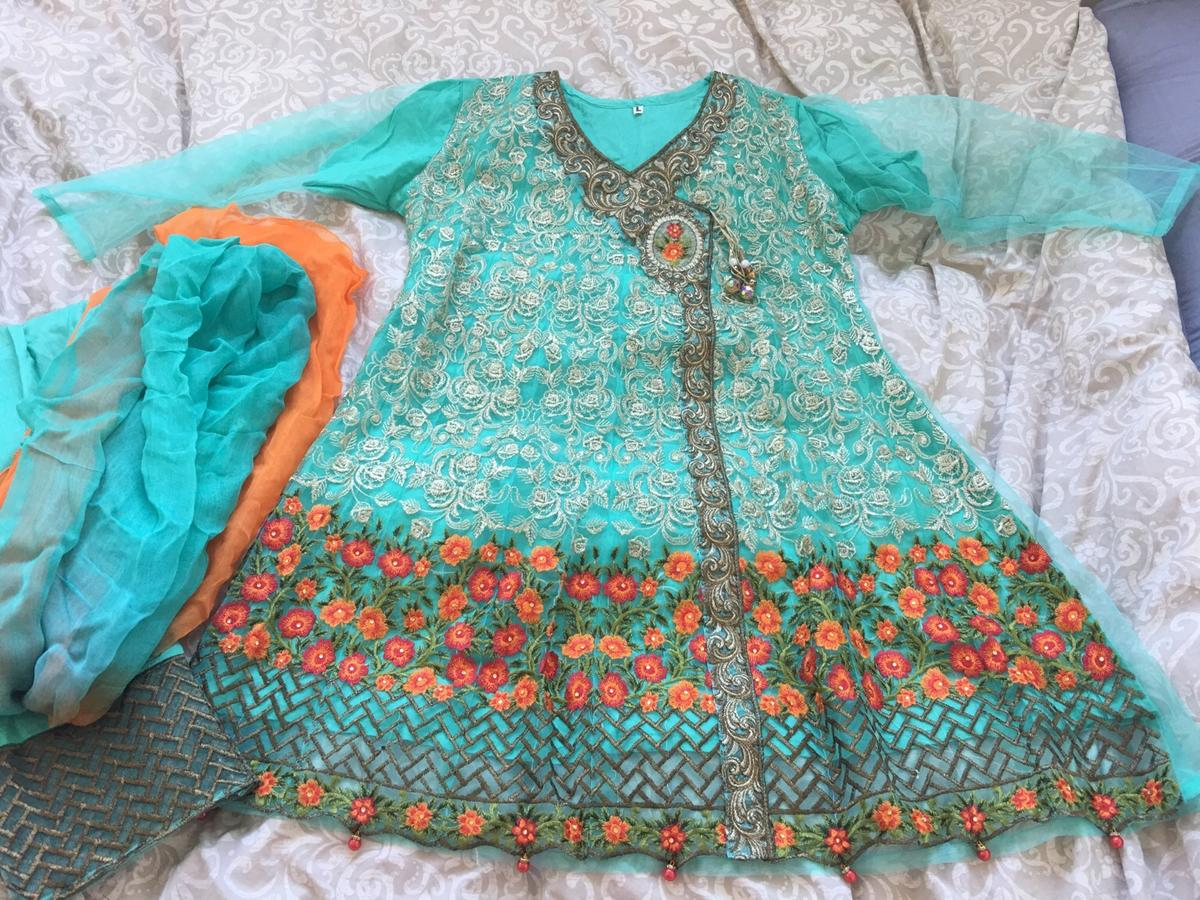 New with trousers and dupatta  Size L