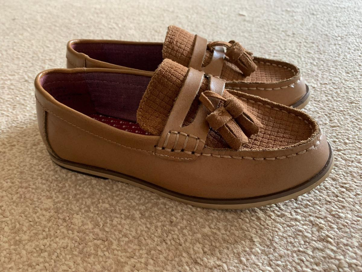 Kids River Island tan loafers Size 12 Worn once Collection Thorpe TW20