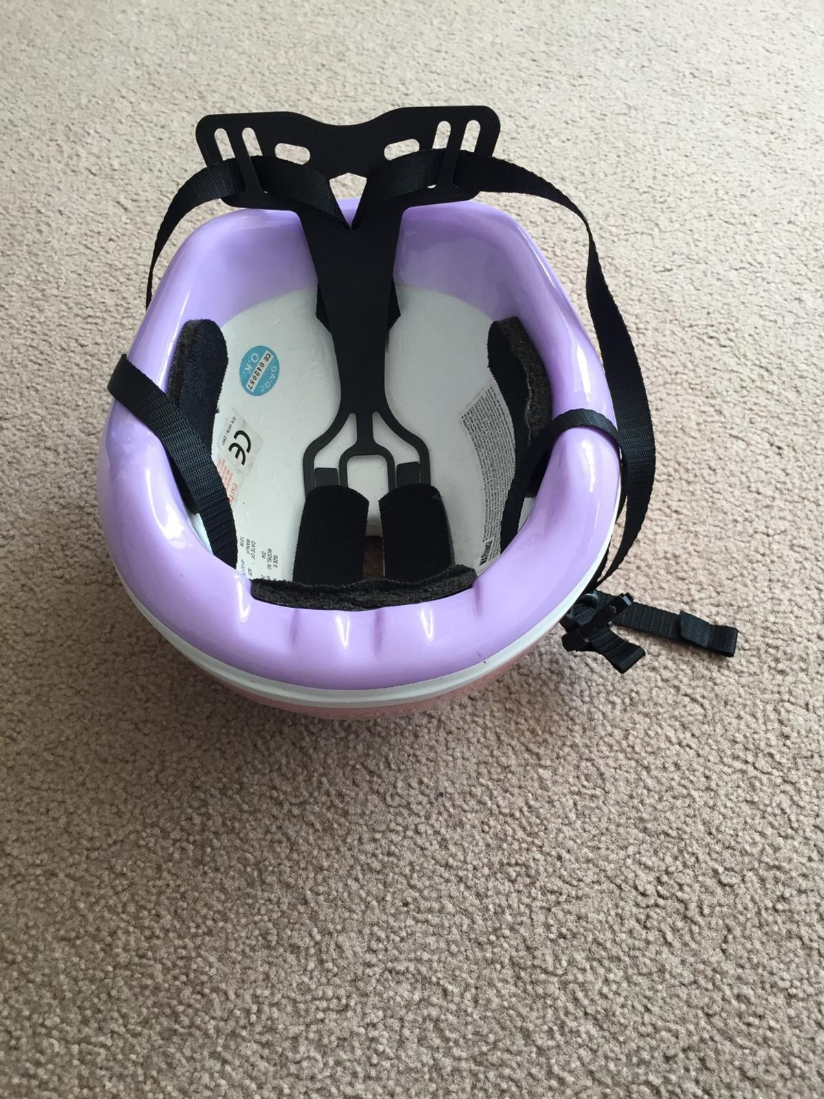 Excellant condition. Only used a few times. Girls bike helmet.