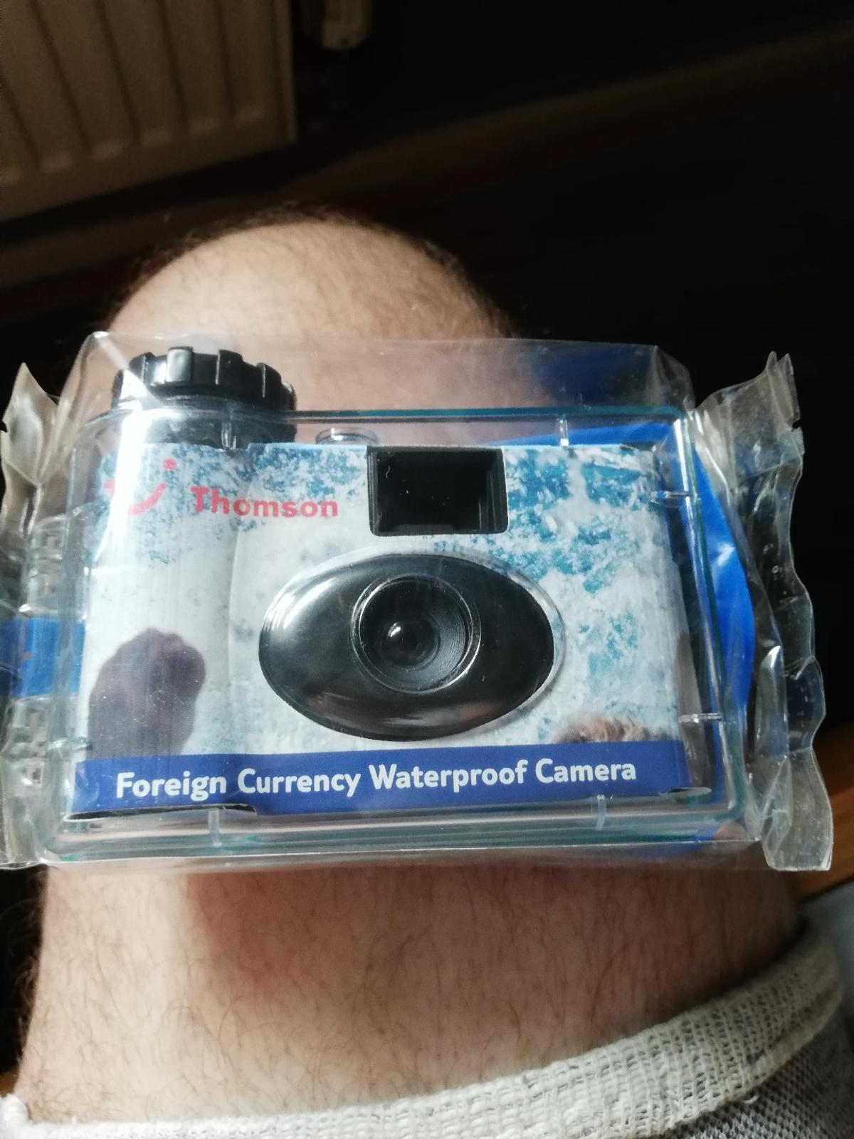 Thomson's holidays, now TUI, gave away these waterproof cameras when you booked, years and years ago. full working order, still boxed, immaculate condition. £15