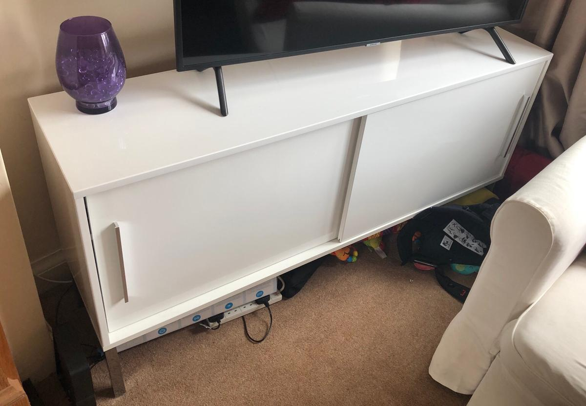 Ikea White High Gloss Sideboard