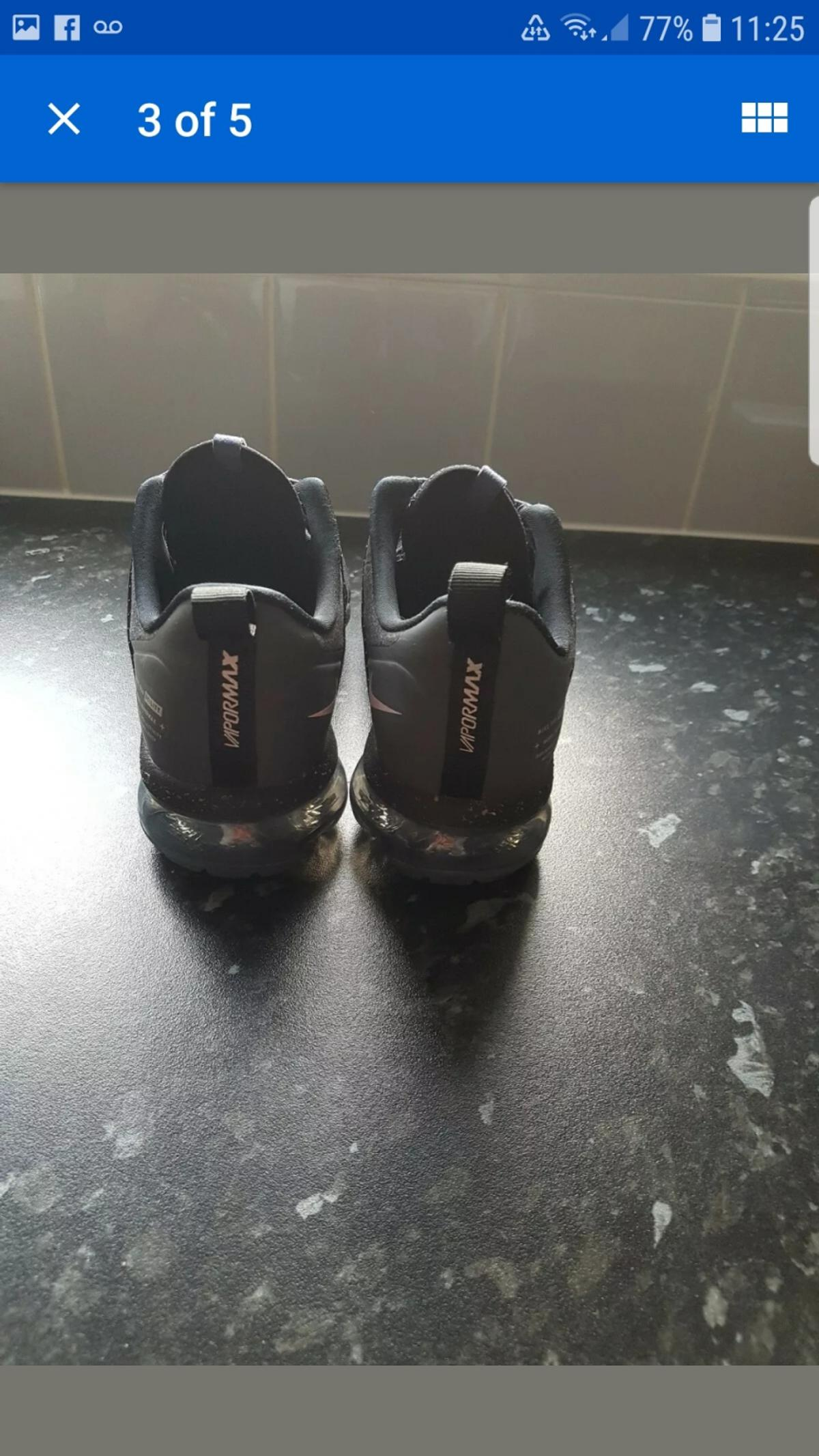 genuine womens vapourmax utility (water resistant) size 5 worn twice in excellent condition