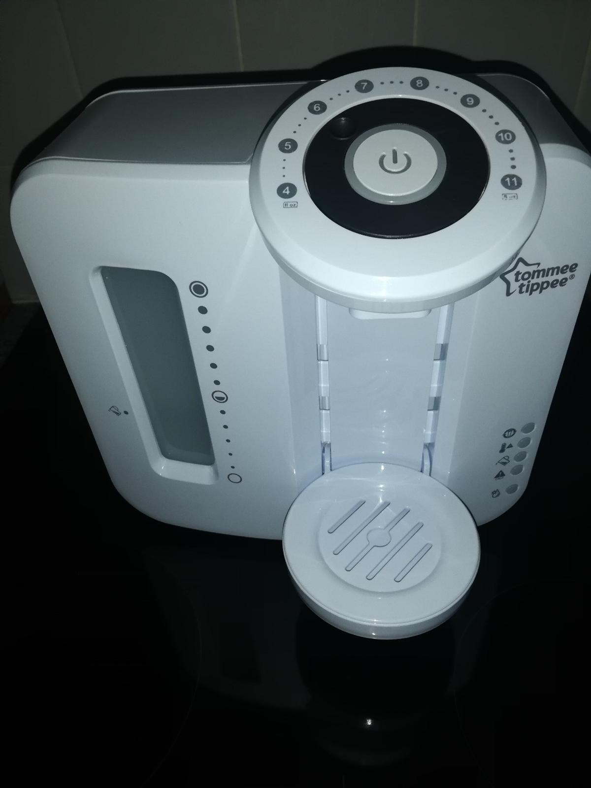 Good condition, needs new filter available at supermarkets (Tescos £5) Must have for a new baby makes feeding a dream. Also have a Tommy Tippee breast pump £25 only used 2 times due to bottle feeding. Can do a deal if buying both Collection or post ( will need to cover postage costs though )