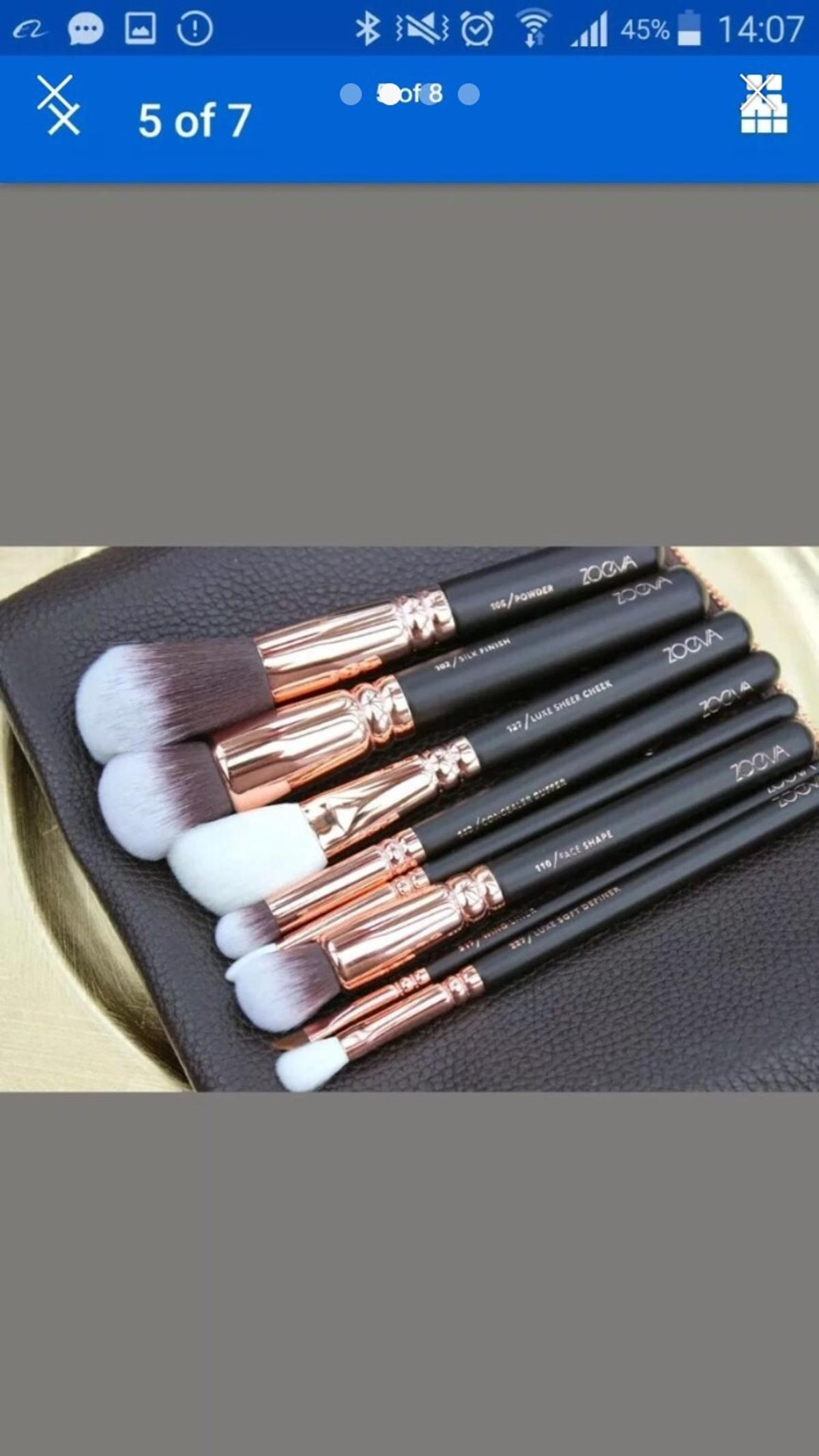 Brand new Never used 15 pcs brushes set with pouch