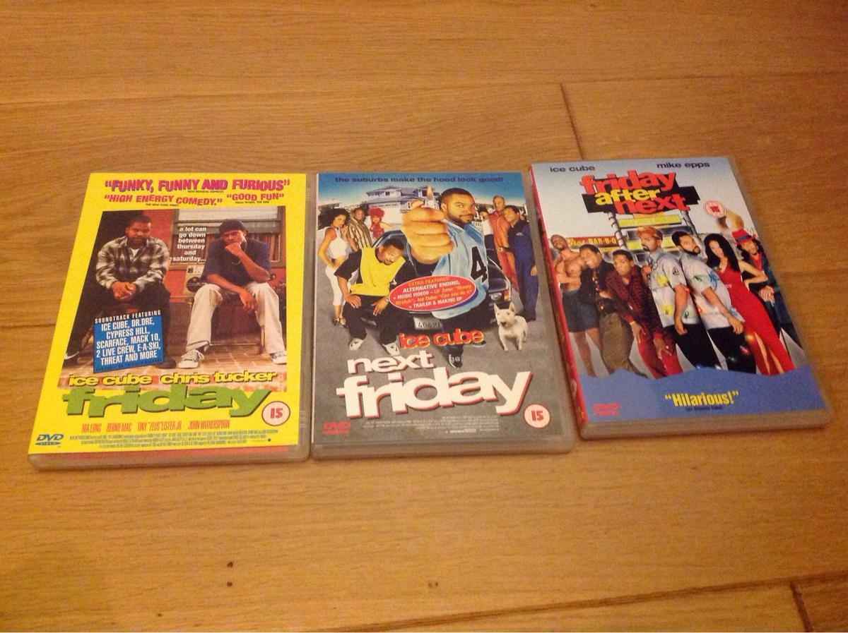Ice Cube Friday movies. £2 each or sale £5 for all. In good working condition. Collection only.
