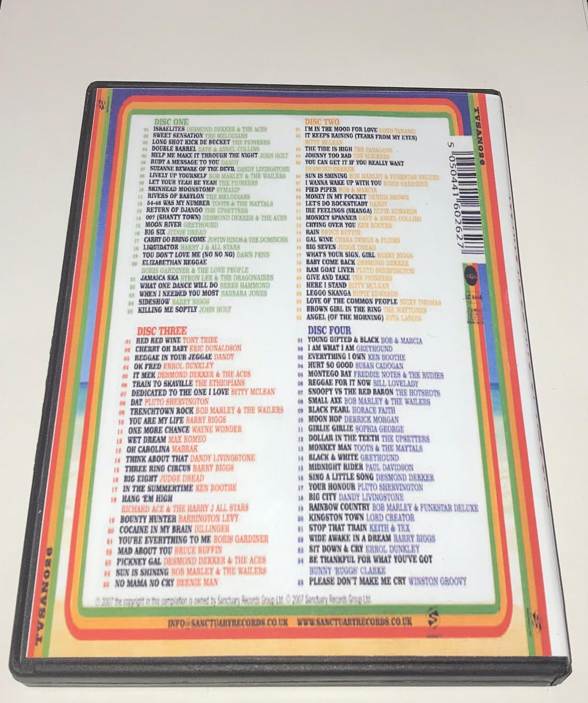 100 Huge huge hits of reggae 4xcd pack Postage available