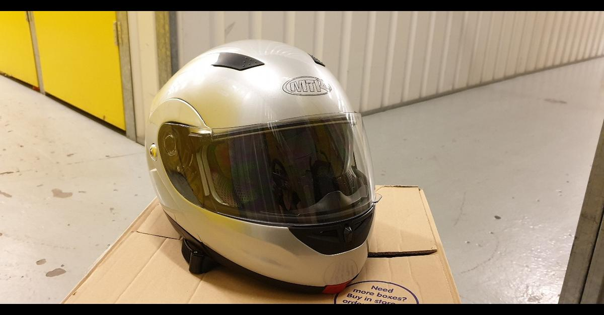 MTR Helmet,Silver,Size S,56 cm Excellent condition(used only few times) Collection only.