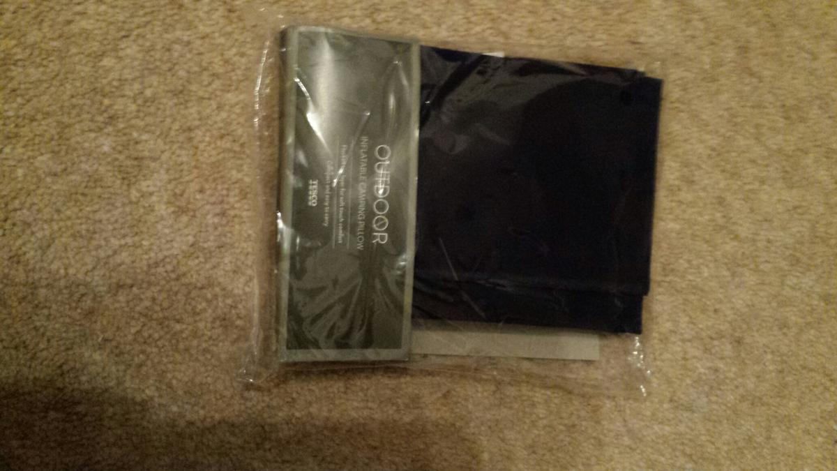 New. Unopened Camping pillow pack