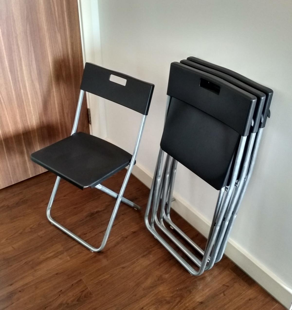 Ikea Gunde Folding Chair Black 4 Available In Se8 London For 4 50 For Sale Shpock