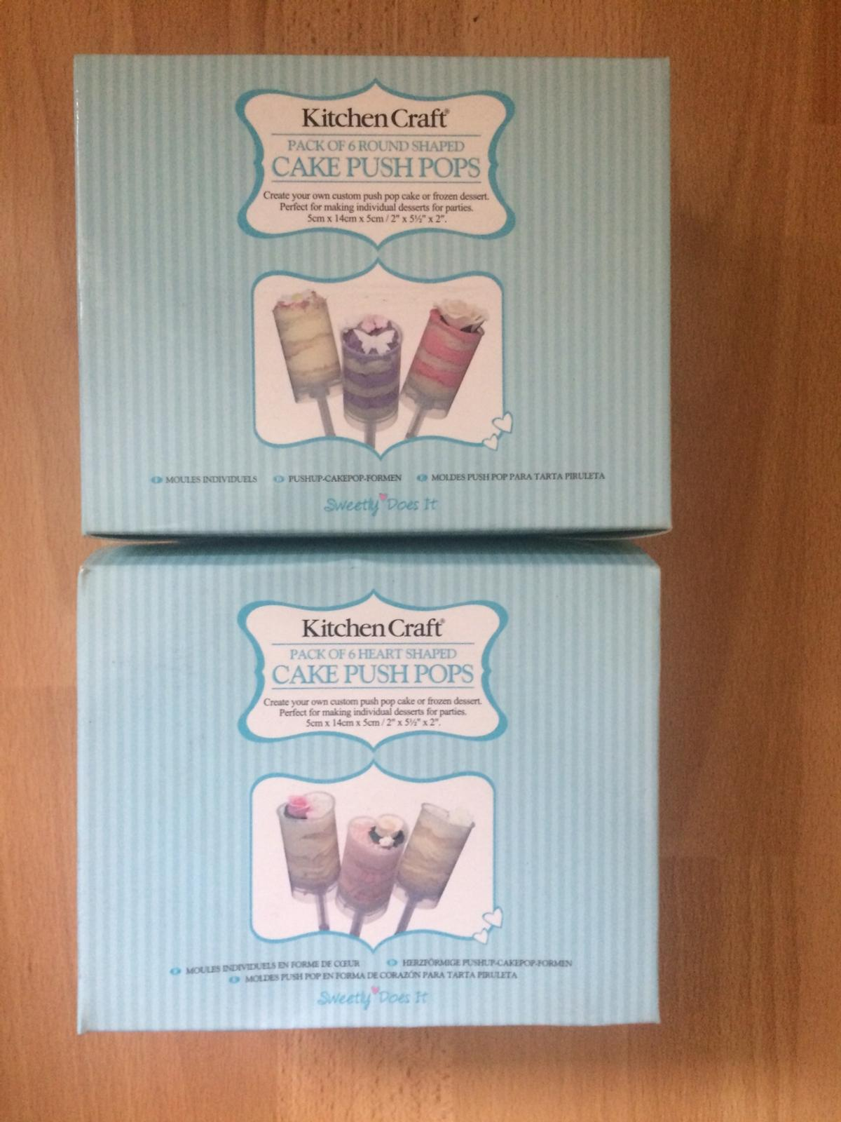 Cake Push Pops 1 x 6 Heart Shaped Push Pops. 1 x 6 Round Shaped push pops. Brand new.  Collection S64 Area. Can post for additional post & packing fees.