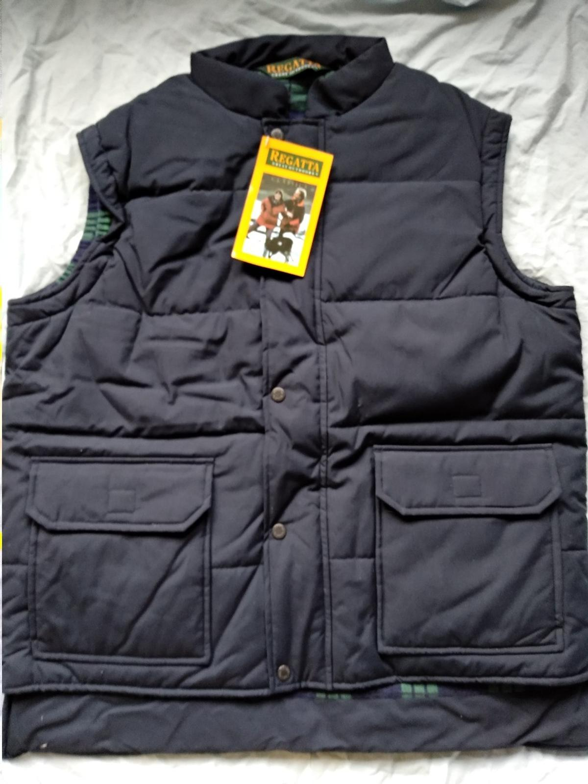 "Regatta Mallard body warmer. Navy blue. Brand new with tags. Large 42"". Collection only."