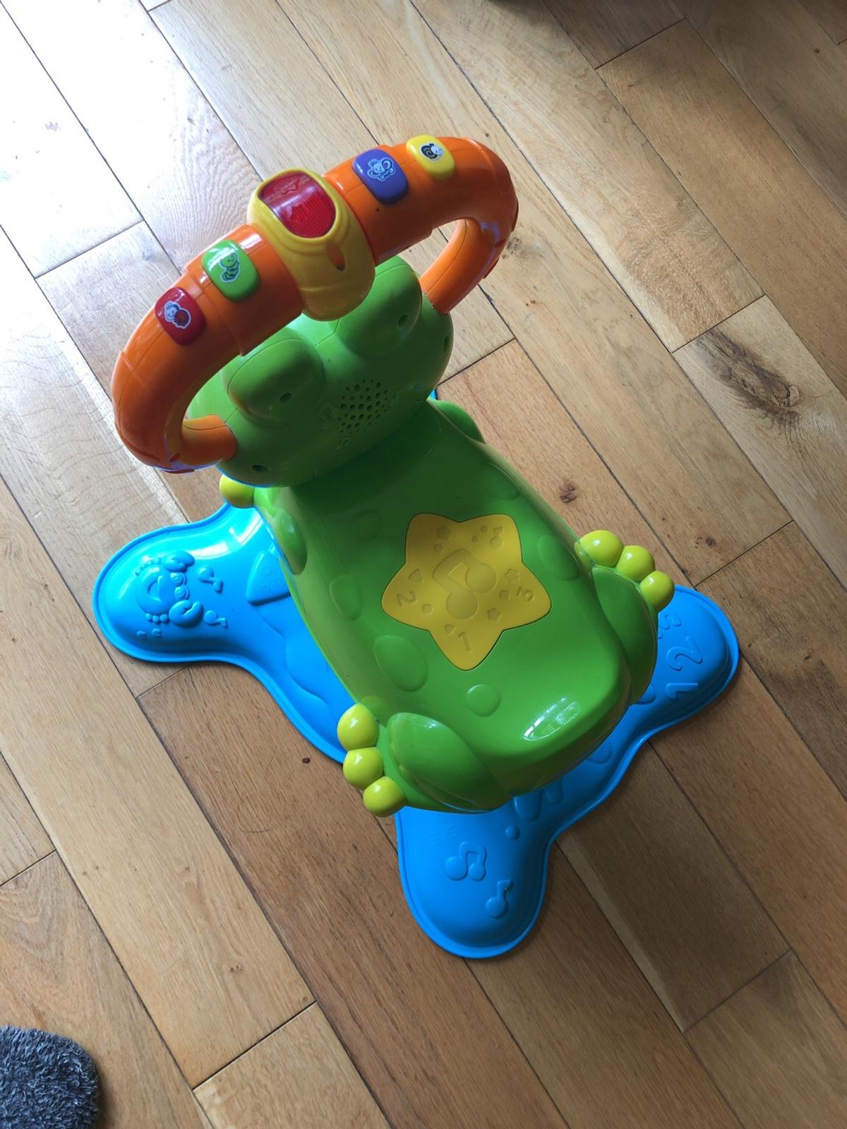 Perfect condition, great toy to bouncing and sitting, loads of fun for little fingers to press and twist, lovely music.