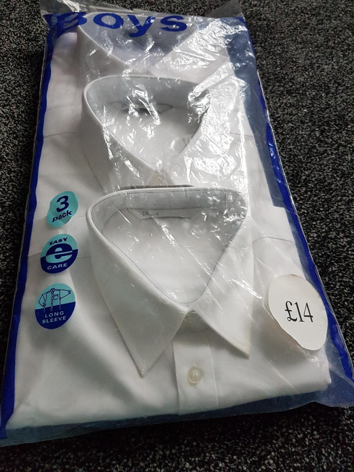 brand new Bhs shcool shirts Pack of 3 15 inch collar original price £14 size 9 -10 years