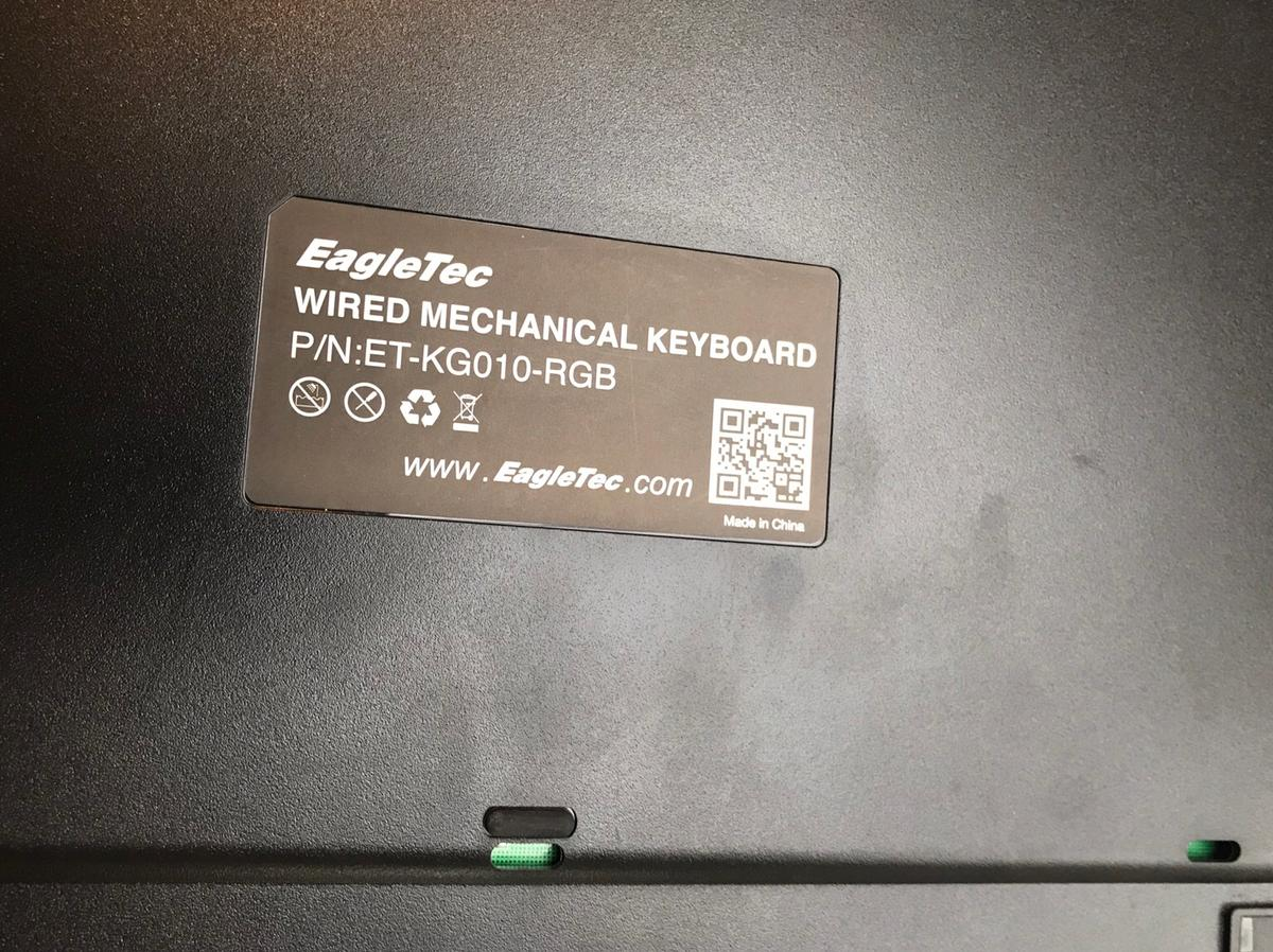 EagleTec WIRED MECHANICAL KEYBOARD P/N:ET-KG011-RGB-UK Collect Only