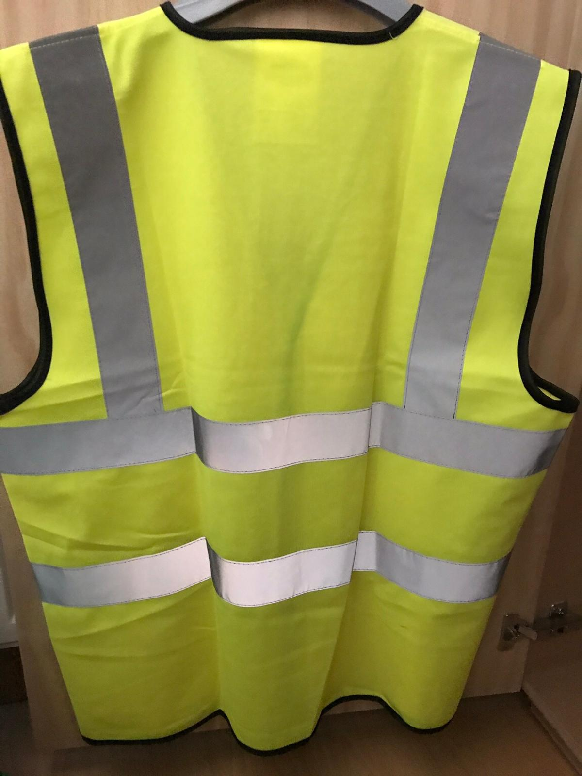 Brand new Hi- Vis yellow vests with reflective stripes. Size Large or XXL available £2.99 each. great for cycling, running, walking, working etc on a dusk/ dark evening Collection from Bacton or If you local I can deliver