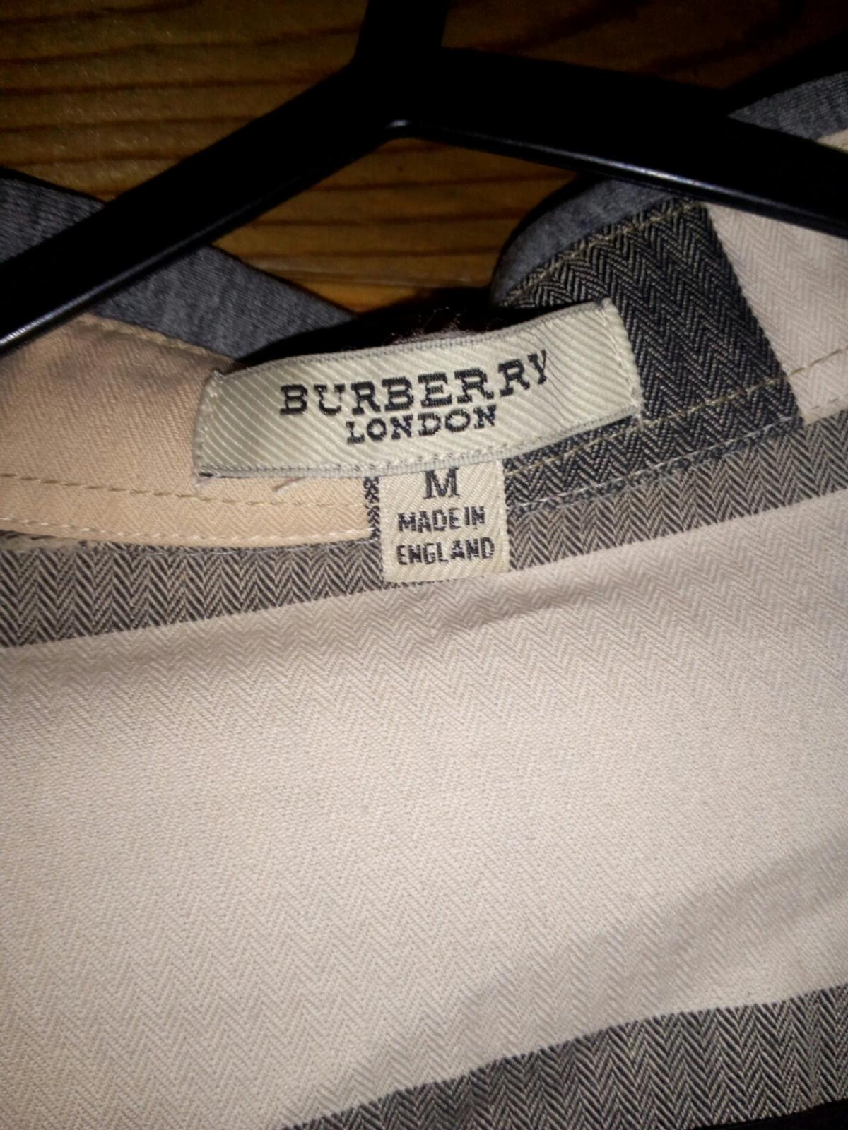 Burberry shirt , size M , cotton 100%, very good condition.LOcation Oldham . Collection only