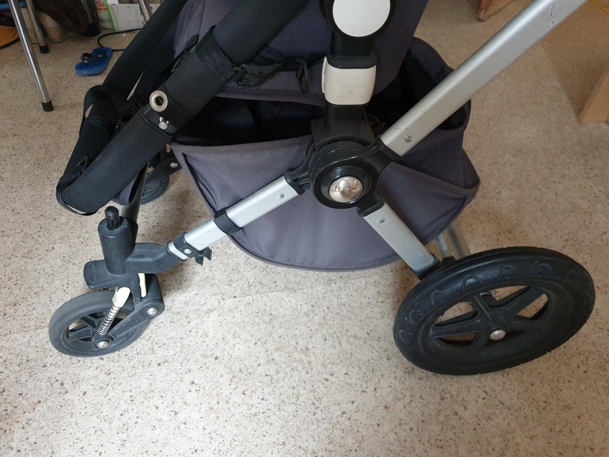 Bugaboo cameleon 2nd Second Generation Part Handle Brake White Bar Clips Chassis