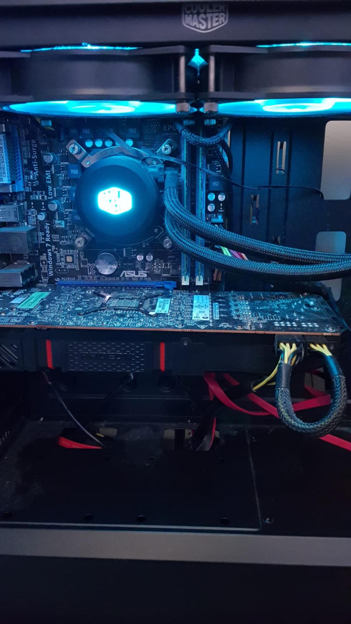 Water cooled gaming PC for delivery
