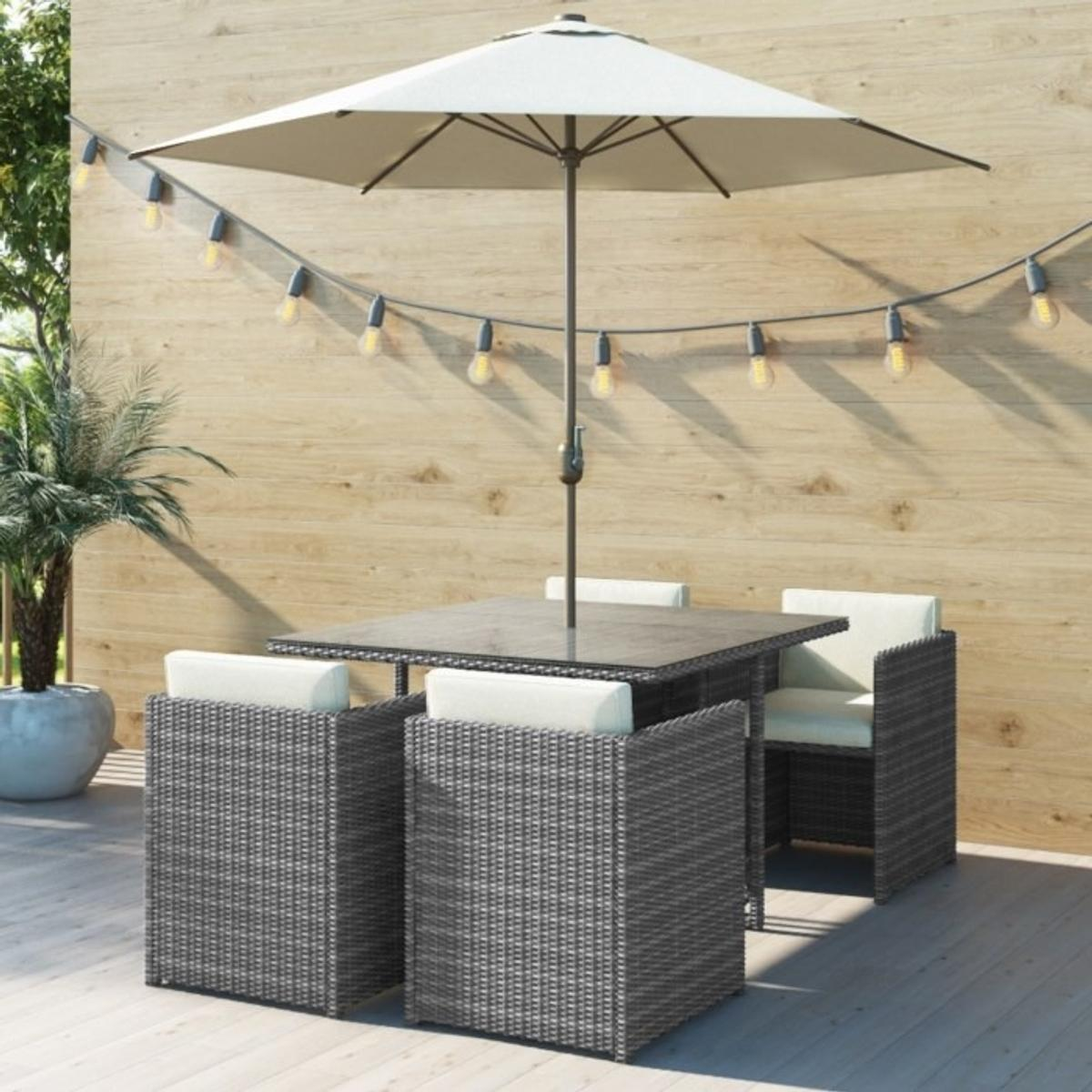 Brilliant Grey Rattan 6 Piece Cube Garden Furniture Set Download Free Architecture Designs Jebrpmadebymaigaardcom