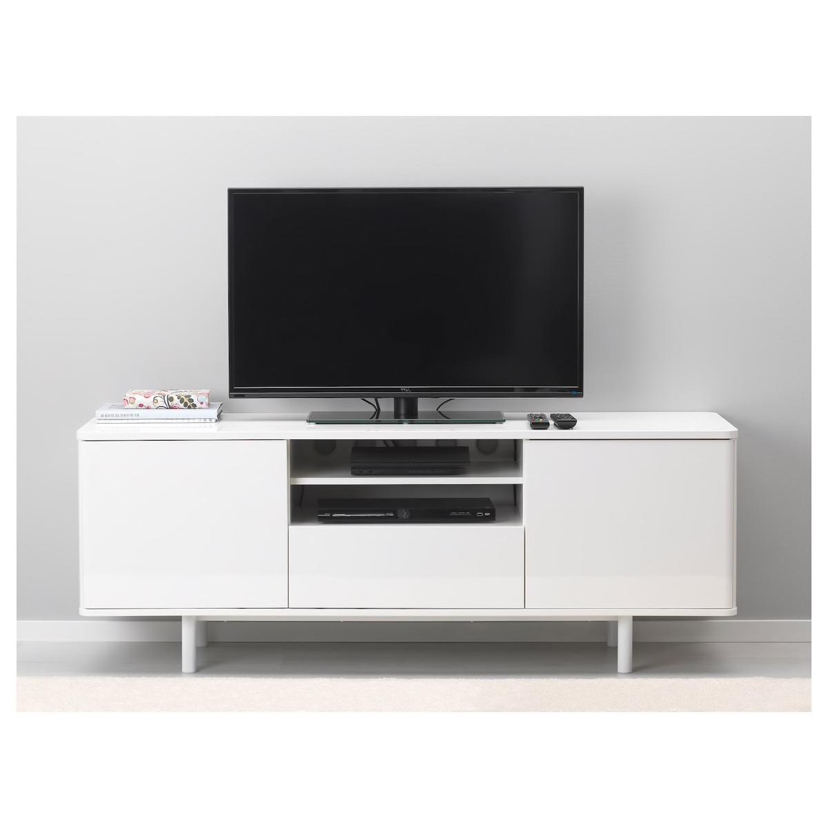 Fine Ikea Mostorp Tv Bench White High Gloss In Nw2 London Fur 150 Gmtry Best Dining Table And Chair Ideas Images Gmtryco