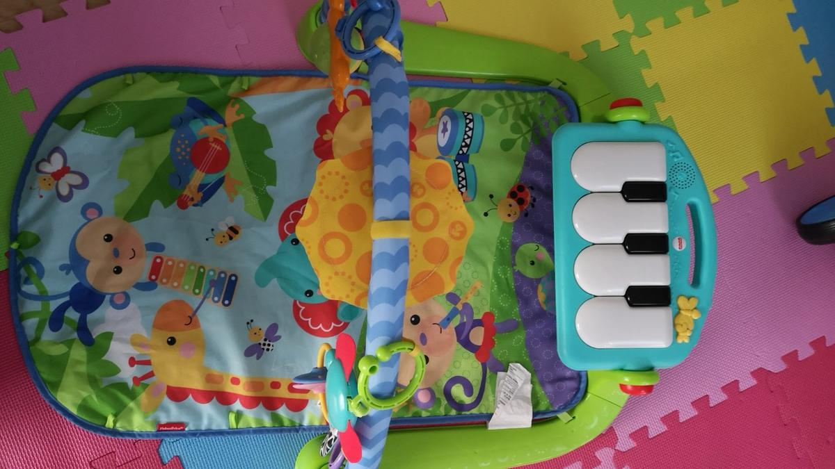 Fisher-Price Kick and Play Piano Baby Gym Activity Centre Music and Sounds