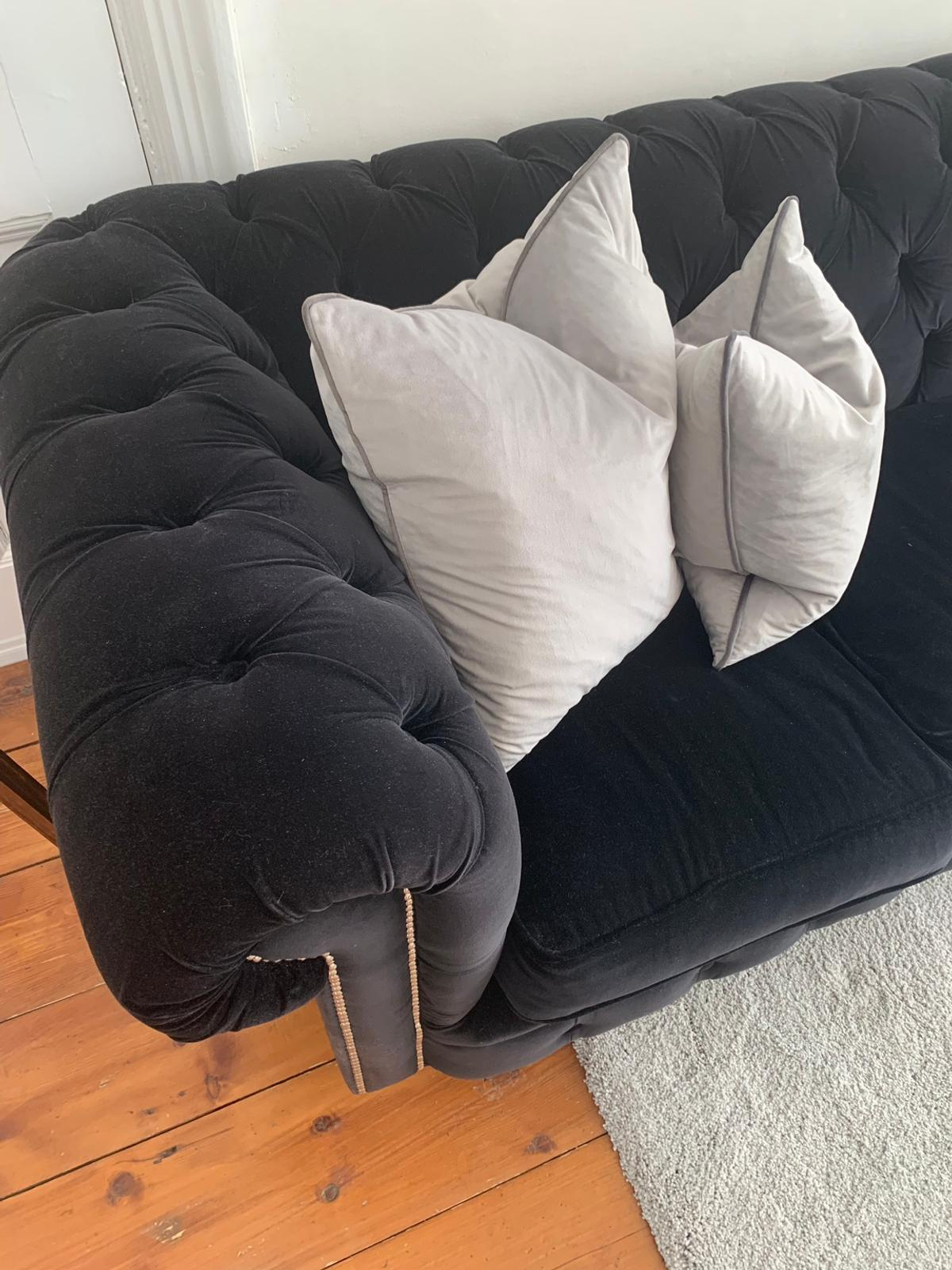 Black Velvet Chesterfield Sofa in N10 London for £450.00 for ...