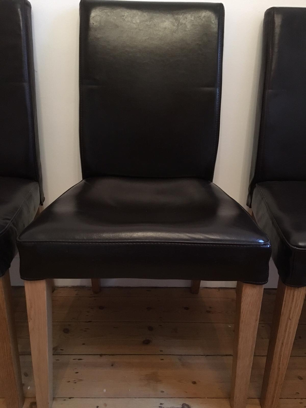 4 Brown Leather Dining Room Chairs Ikea In So17 Southampton For 40 00 For Sale Shpock