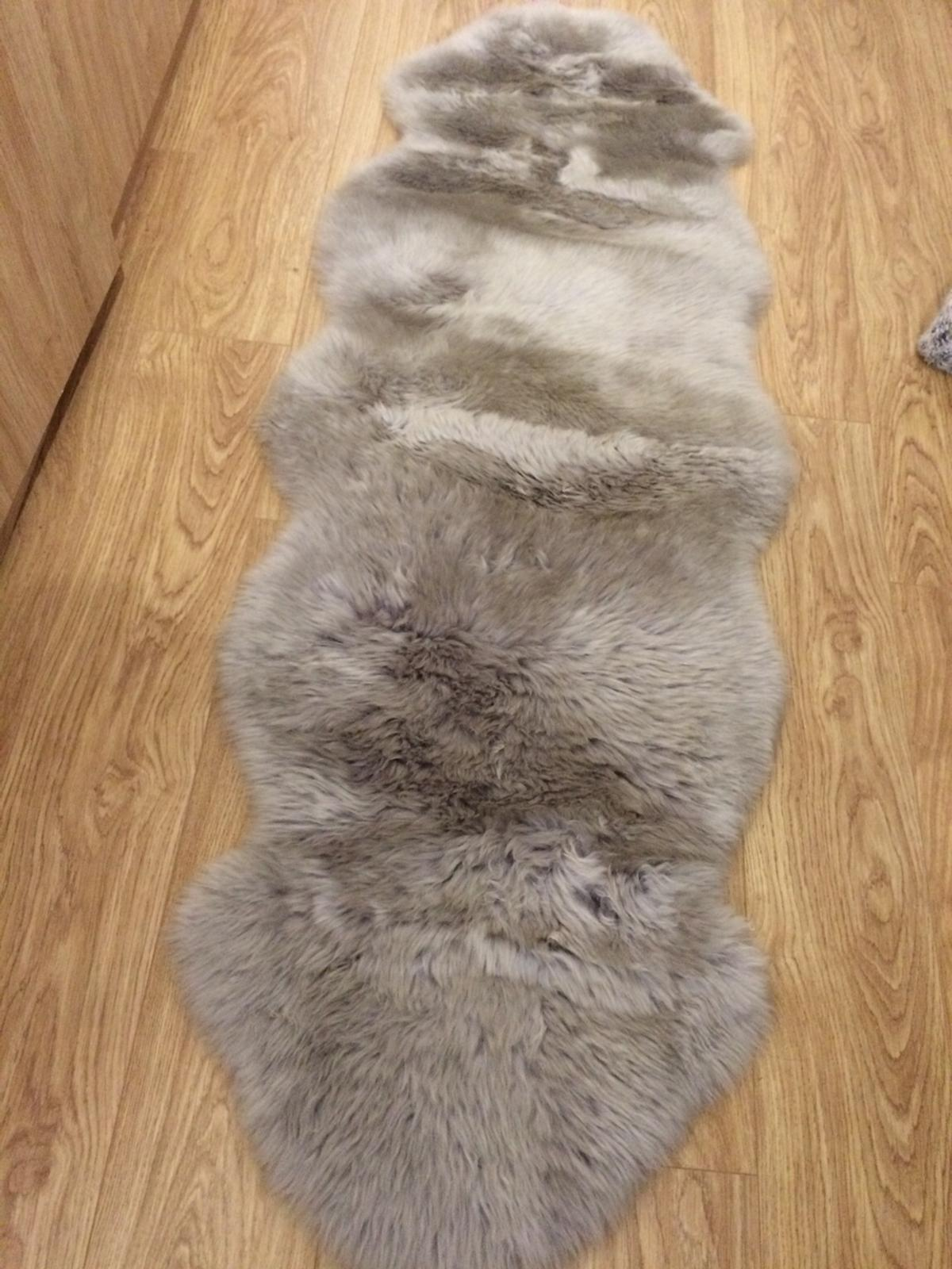 Grey Sheepskin Rug Hardly Used In St