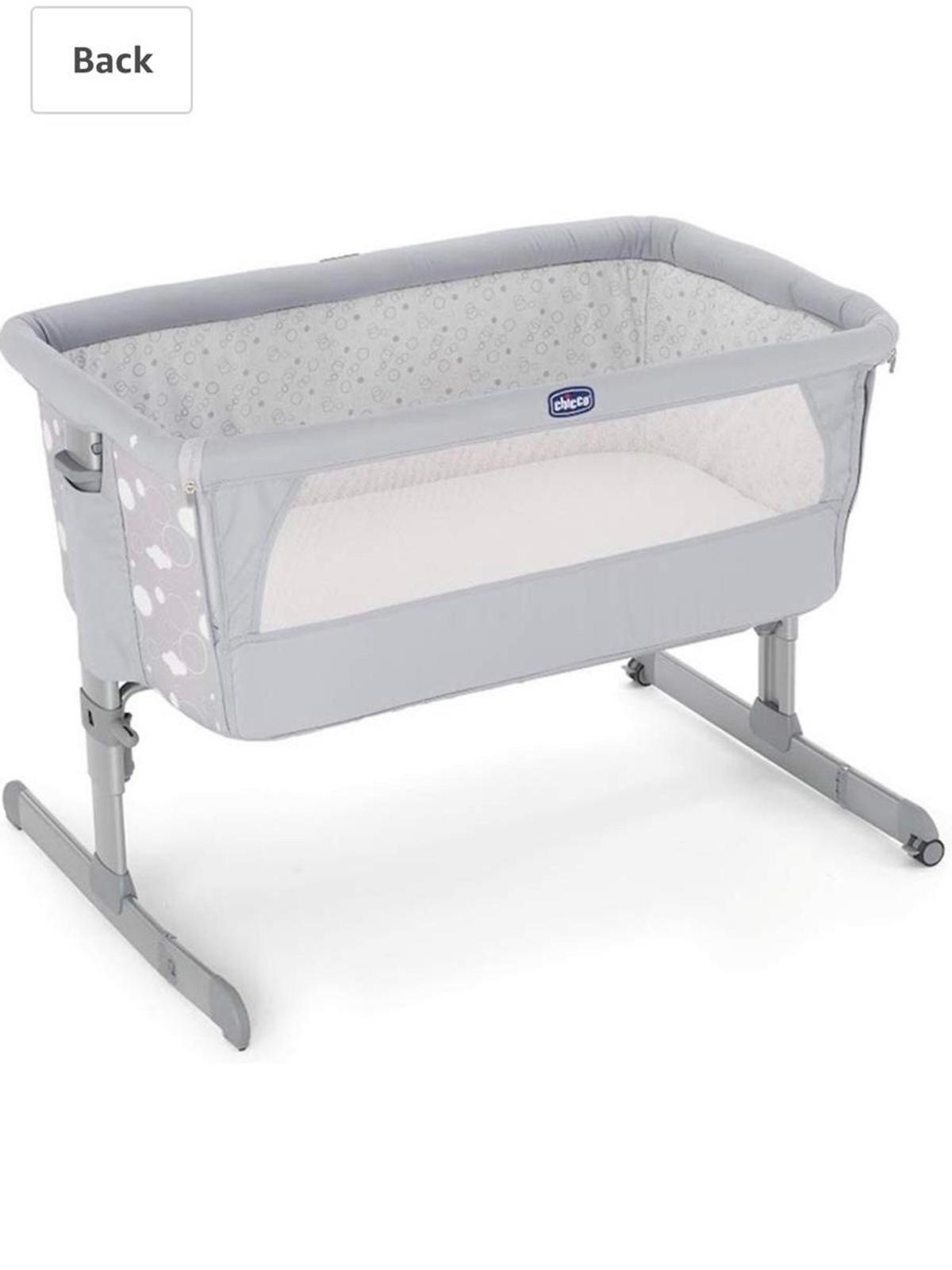 BRAND NEW CHICCO WHITE NEXT 2 ME LULLAGO CRIB FITTED SHEETS FROM BIRTH