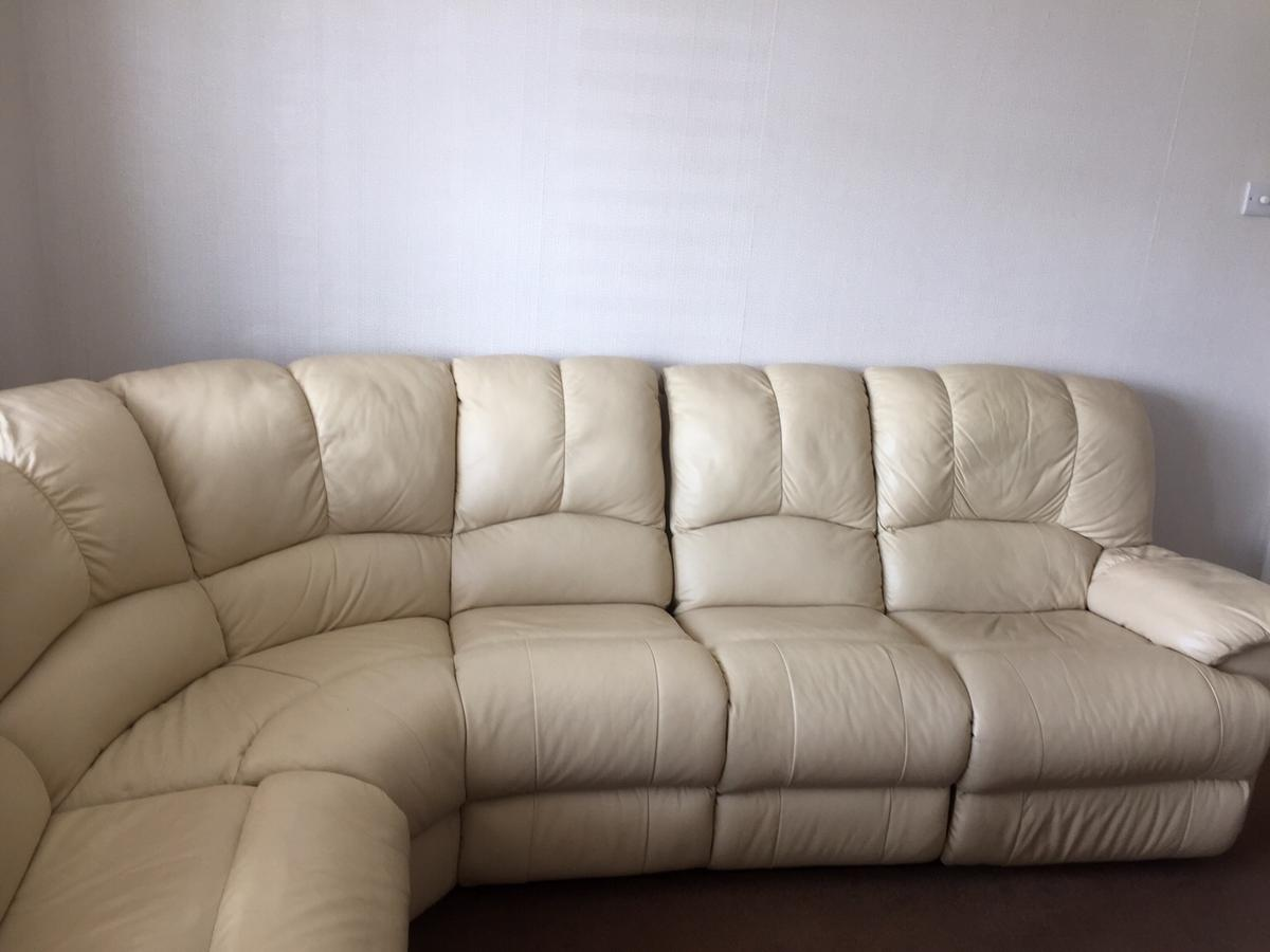 Leather corner reclining sofa in TN39 Rother for £150.00 for