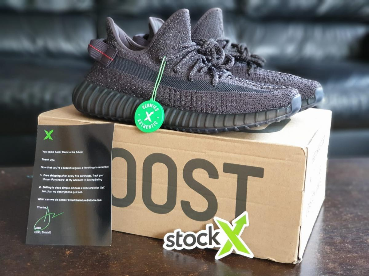 Adidas Yeezy Boost 350 V2 Static Black ( Reflective ) FU9007