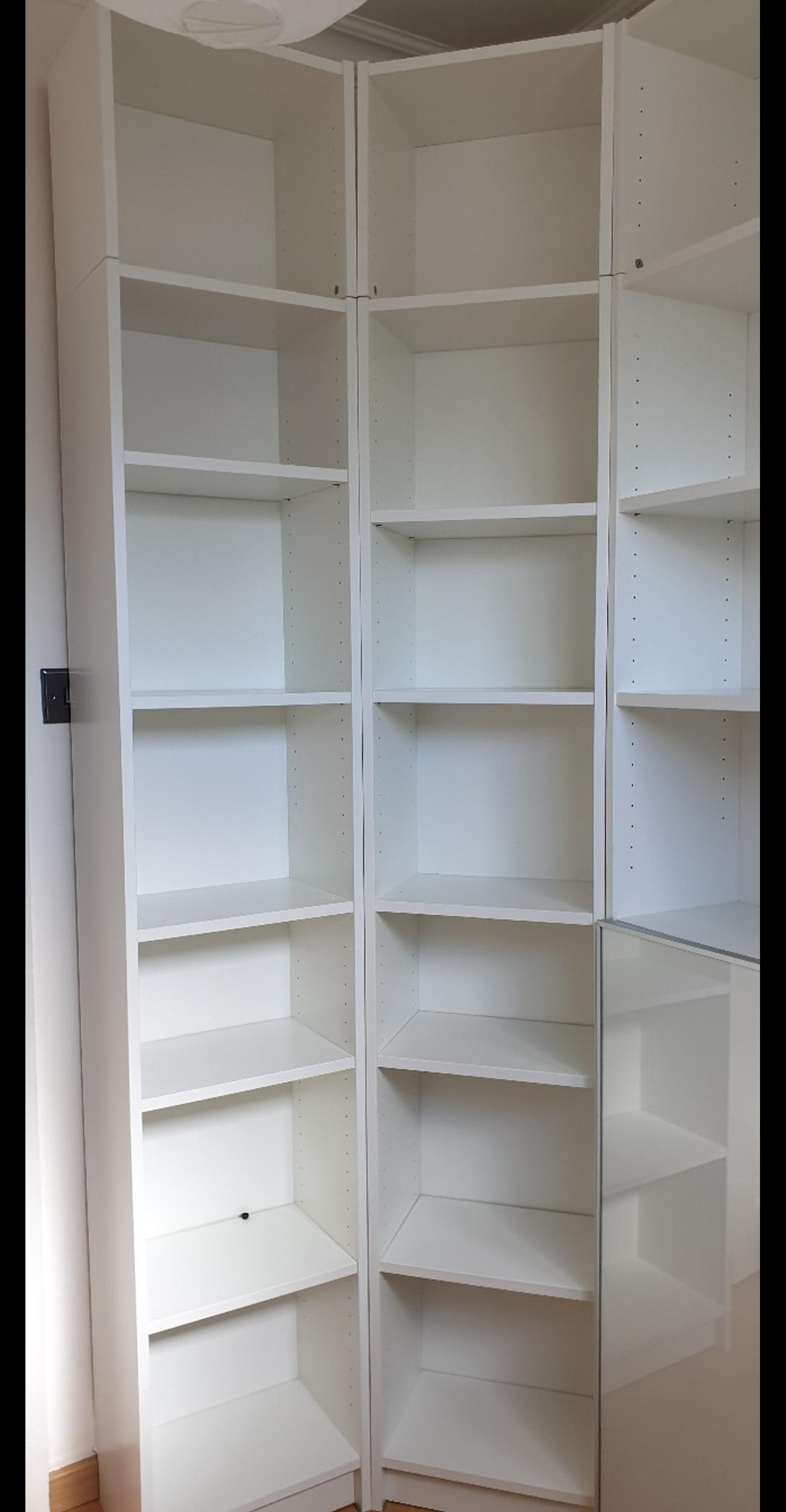 Multiple Ikea Billy Bookcases In White