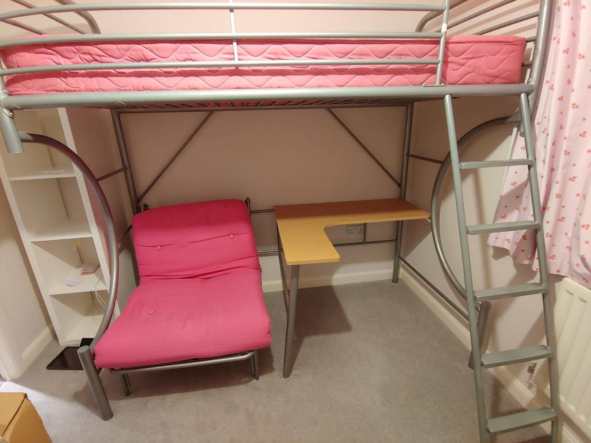 Bunk Bed Futon And Desk In One