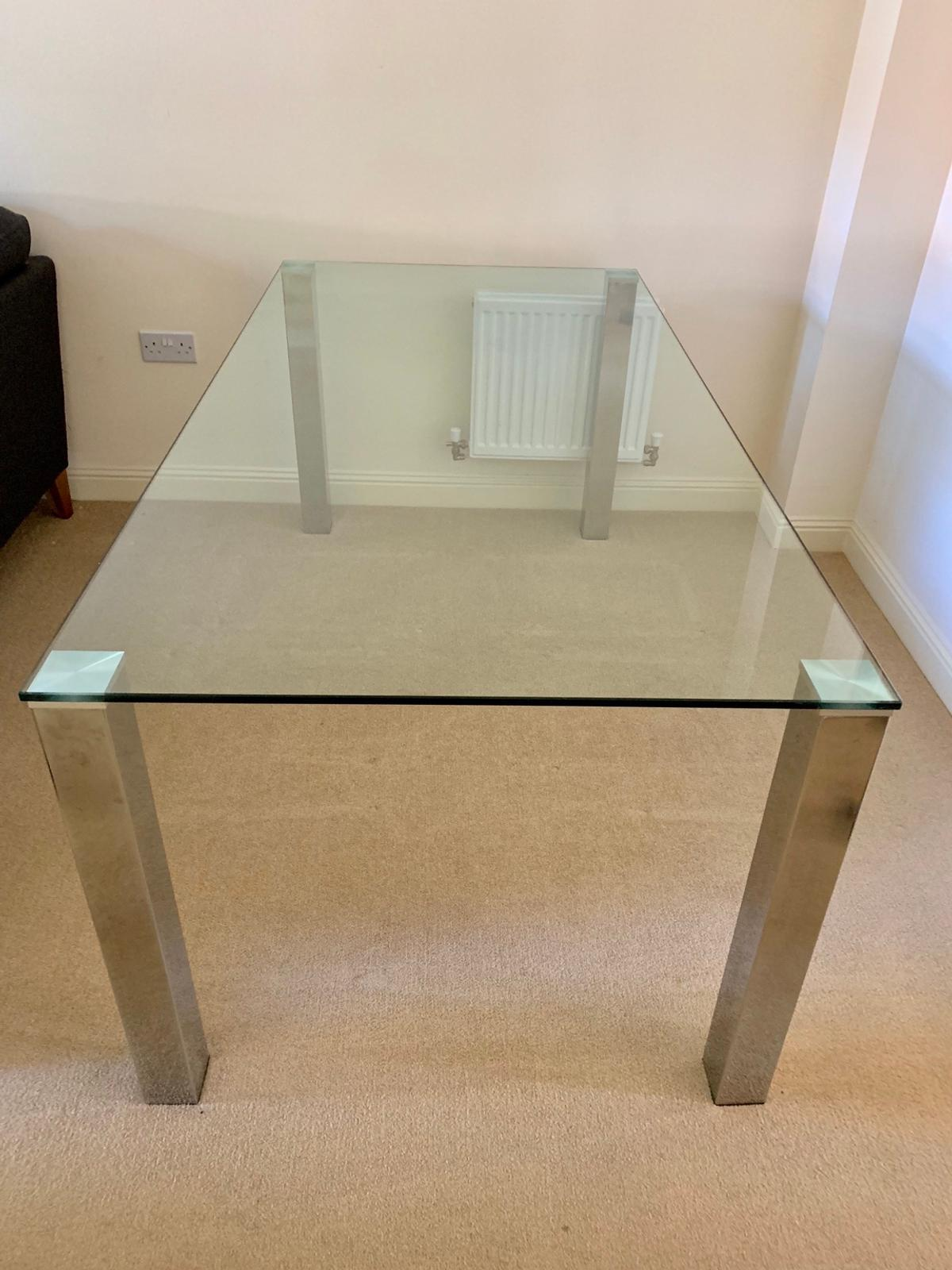 Large Glass Dining Table Chrome Legs In Hp13 Wycombe For 200 00