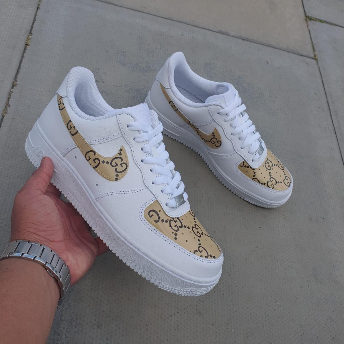 custom air force 1 gucci black