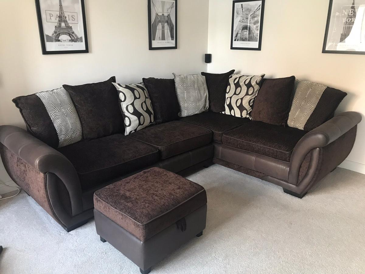 Dfs Brown Left Hand Corner Sofa In Tudhoe For 350 00 For Sale Shpock