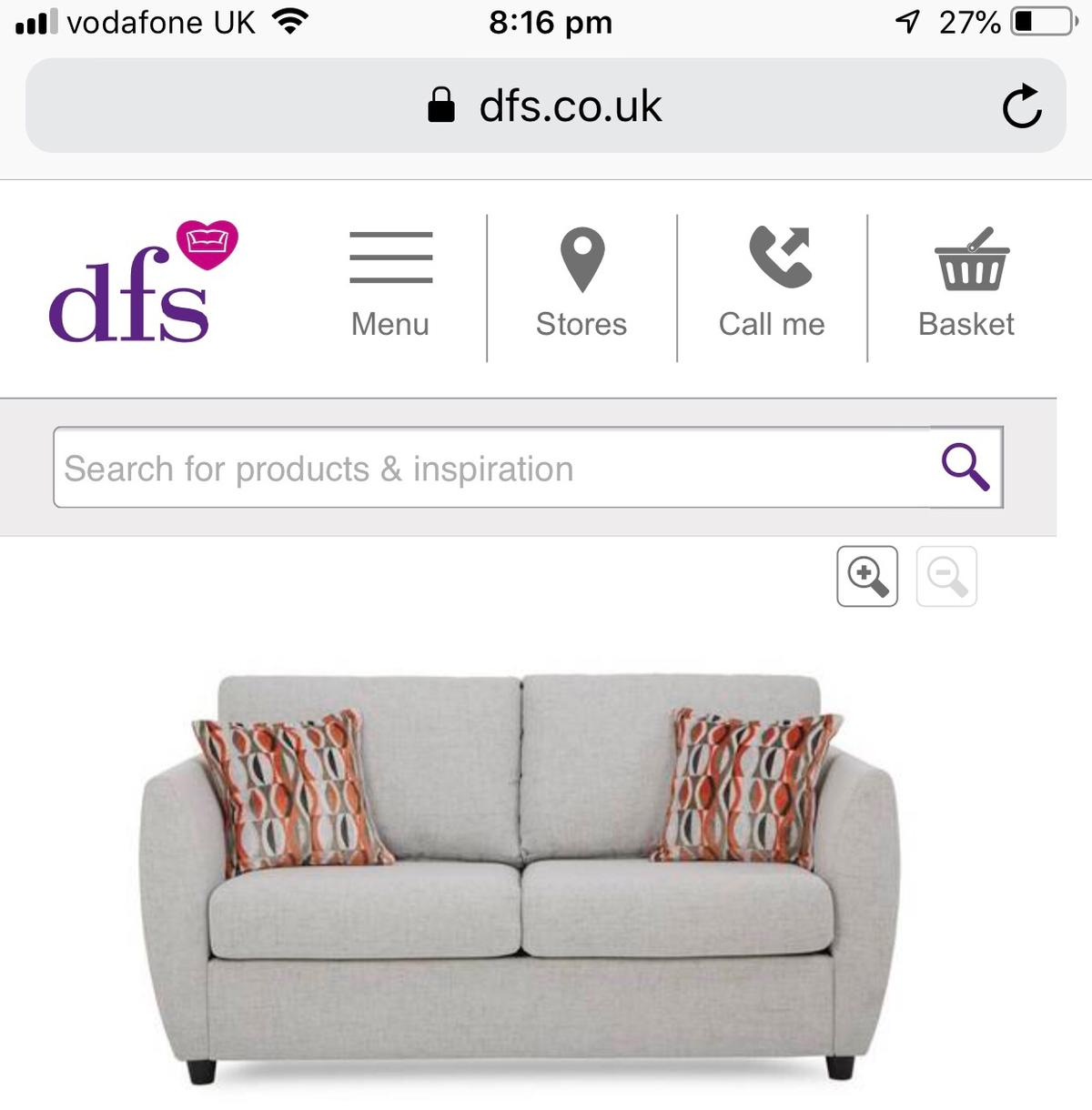Dfs 2 Seater Deluxe Sofa Bed In Wc1x