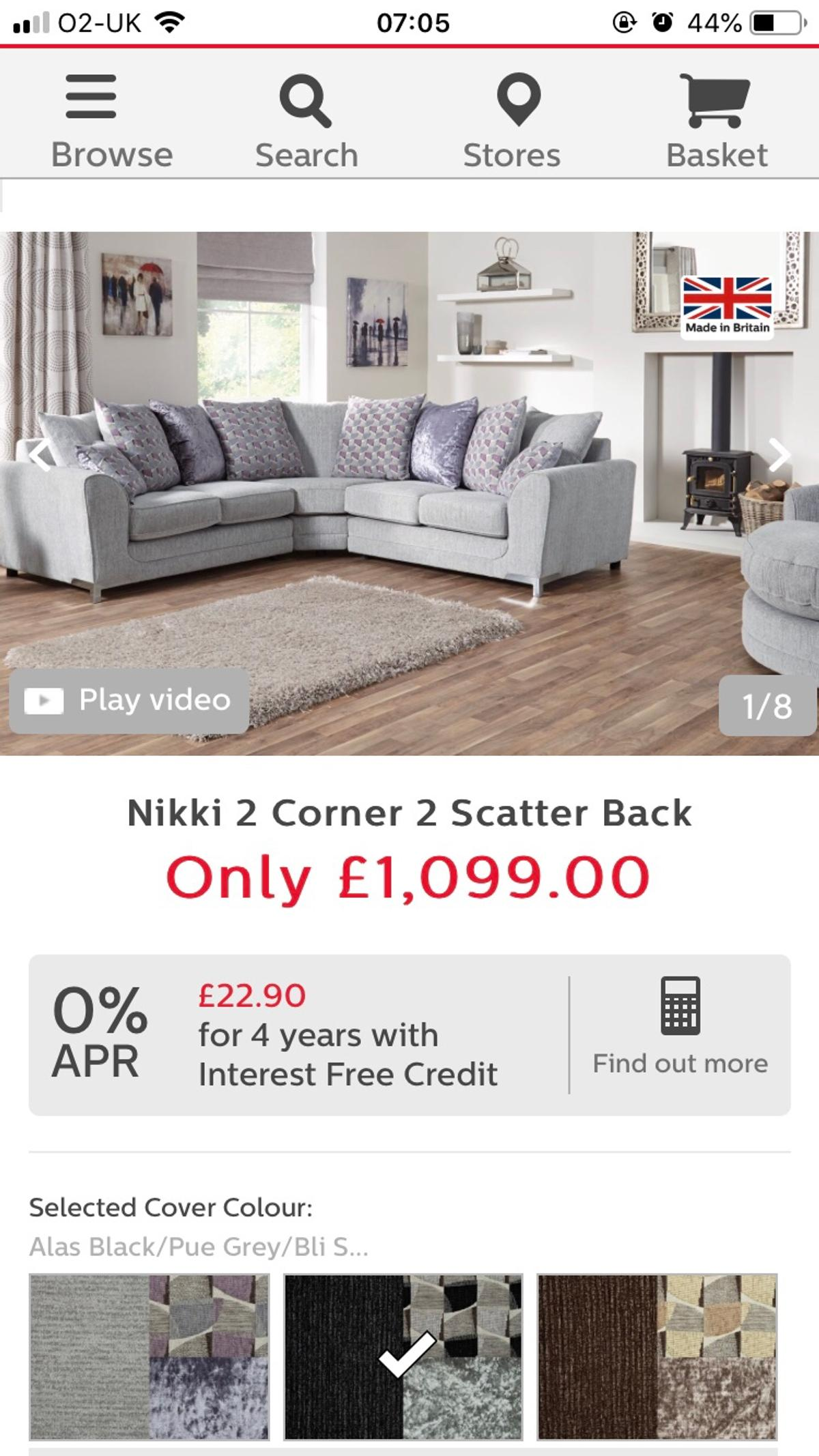 Scs Nikki Range 2c2 Corner Sofa In Ng7 Nottingham For 500 00 For Sale Shpock