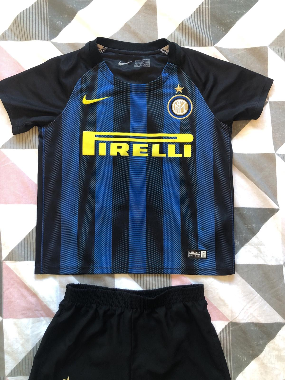 low priced 5be89 575a8 Nike Inter Milan football kit age 4-5 years
