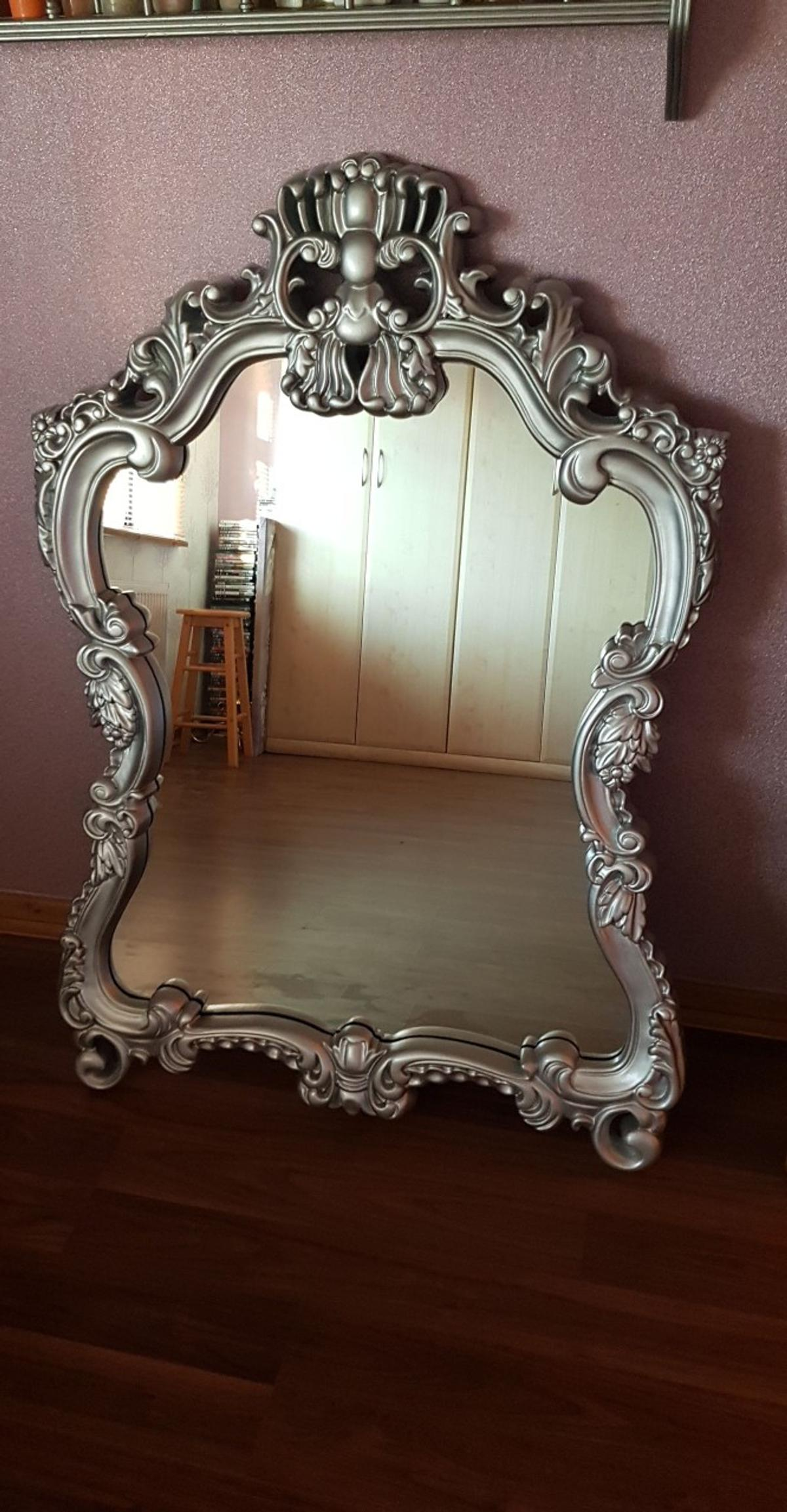 Very Large Silver Ornate Mirror In S40 Chesterfield For 35 00 For Sale Shpock