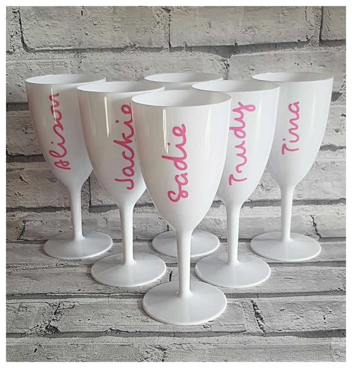 Personalised Garden Wine Glass or Double Walled Tumbler Other fonts / colours available Perfect for Hen Parties or Xmas Tables £5 each or two for £8