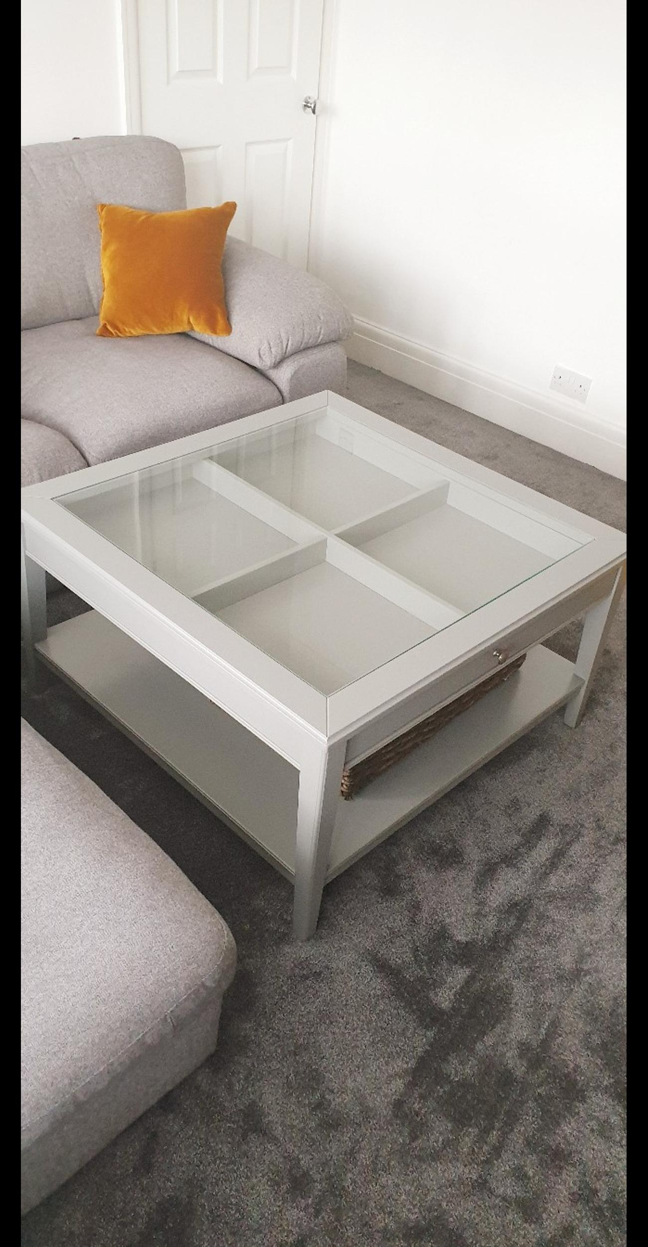 Awe Inspiring Ikea Liatorp Grey Coffee Table Squirreltailoven Fun Painted Chair Ideas Images Squirreltailovenorg