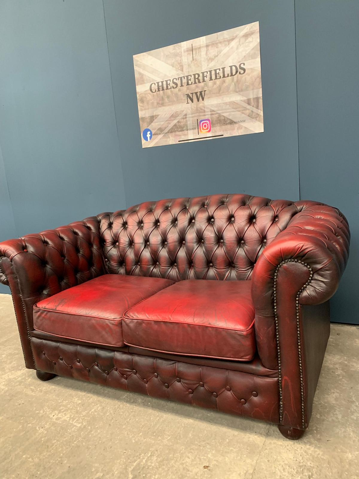 Picture of: Vintage Oxblood Chesterfield Sofa In Wa3 Glazebury For 295 00 For Sale Shpock