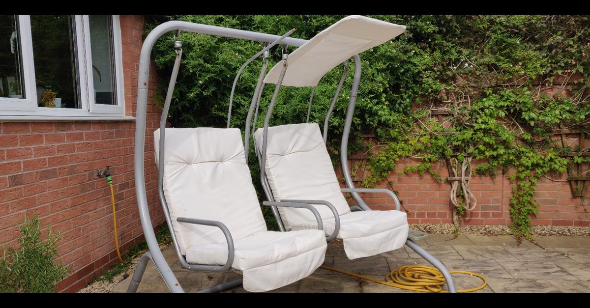 Awesome Garden Outdoor Swing Chair 2 Seater Swing In Hinckley And Machost Co Dining Chair Design Ideas Machostcouk