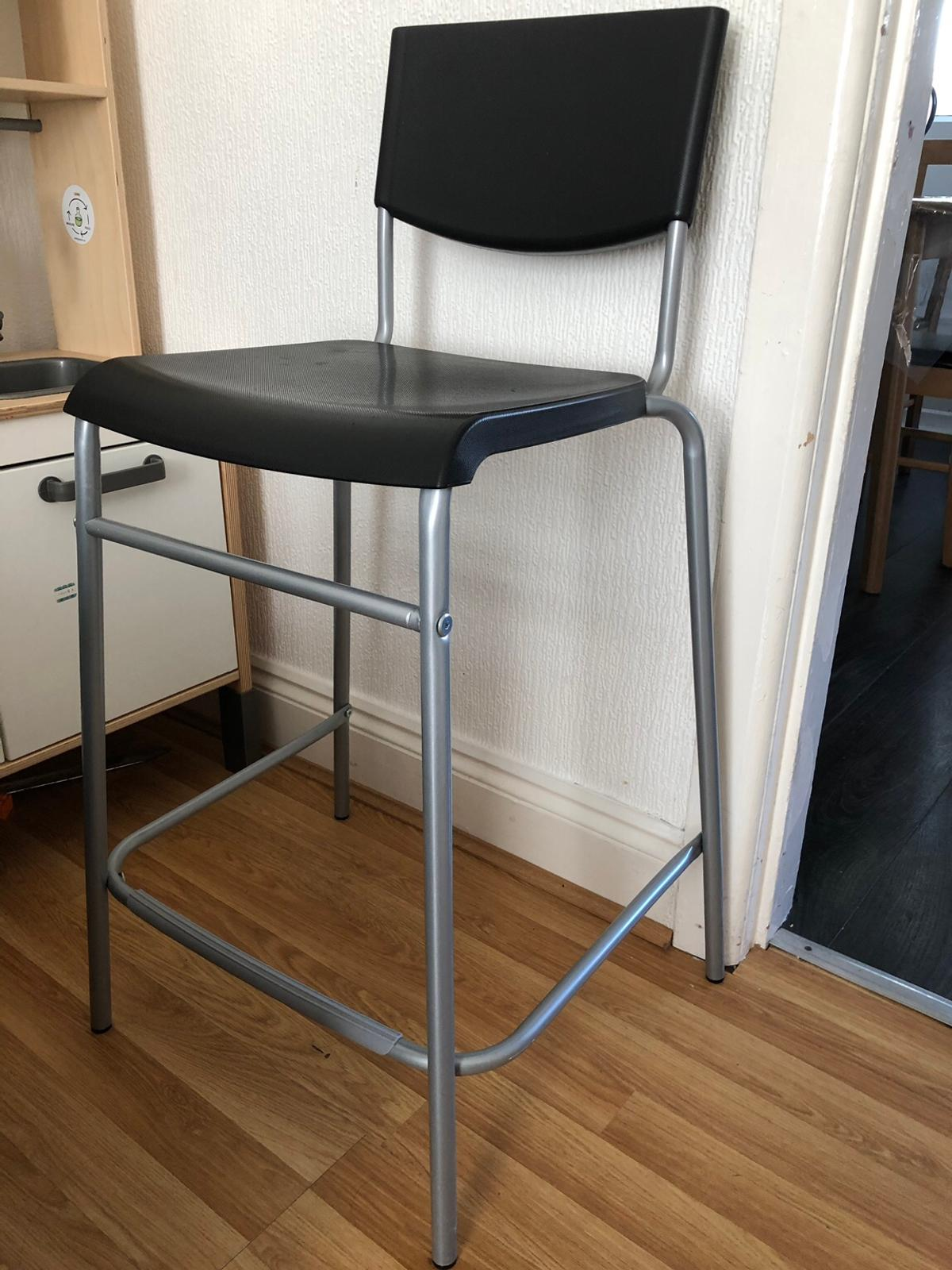 Awe Inspiring Ikea Stig Bar Stool With Backrest Gmtry Best Dining Table And Chair Ideas Images Gmtryco