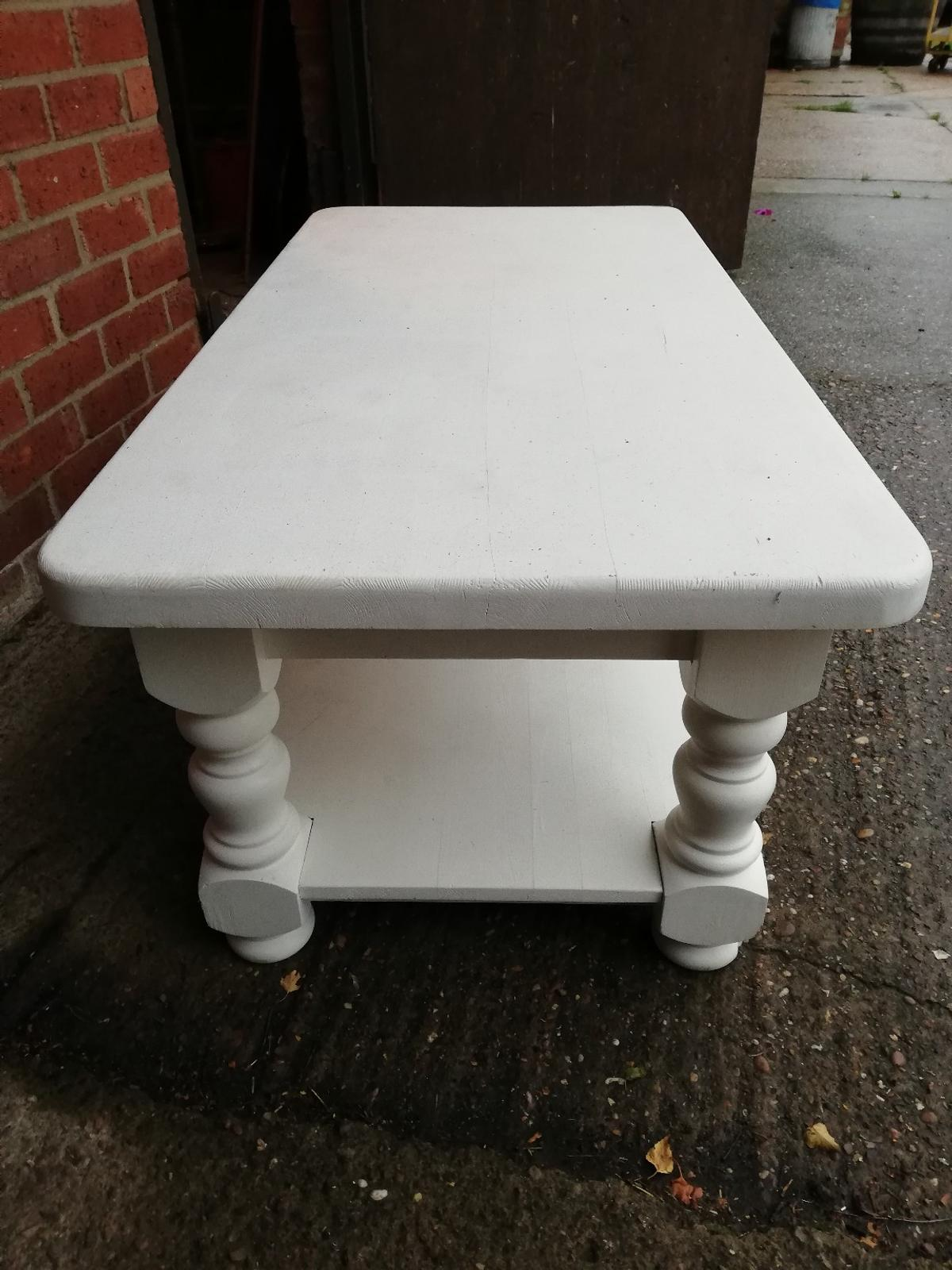 Solid Pine Coffee Table.Painted Solid Pine Coffee Table