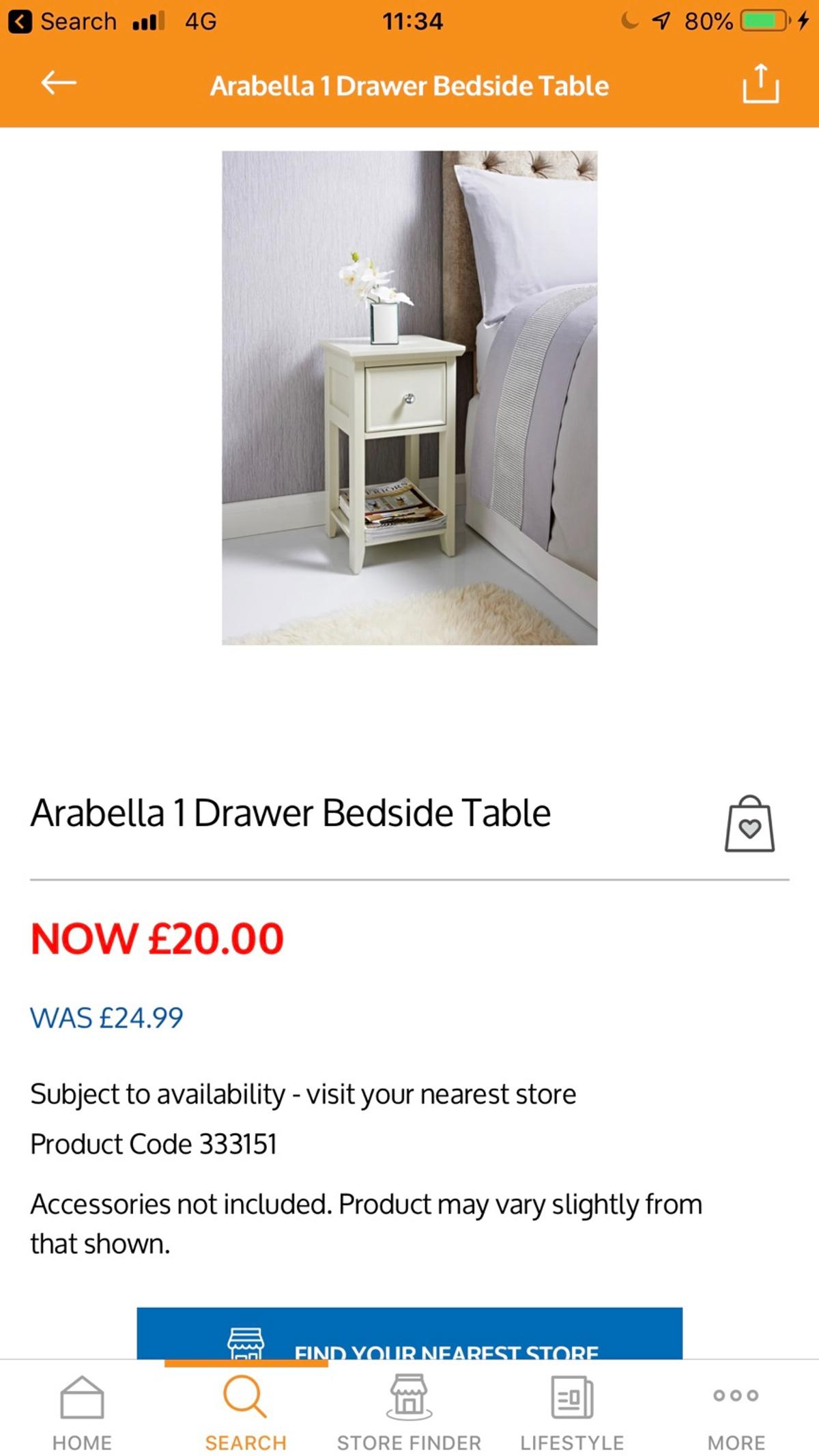 Bedside Table B M In St1 Trent For 5 00 For Sale Shpock