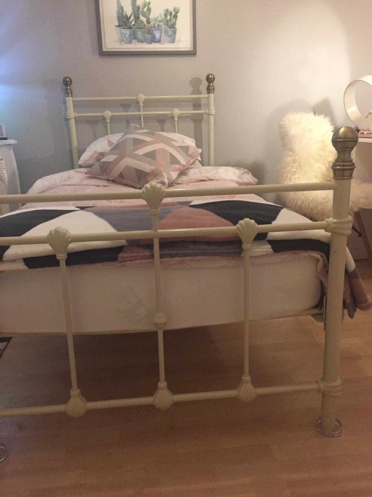 Laura Ashley Single Cream Metal Bed Frame In Wheelock For 30 00 For Sale Shpock