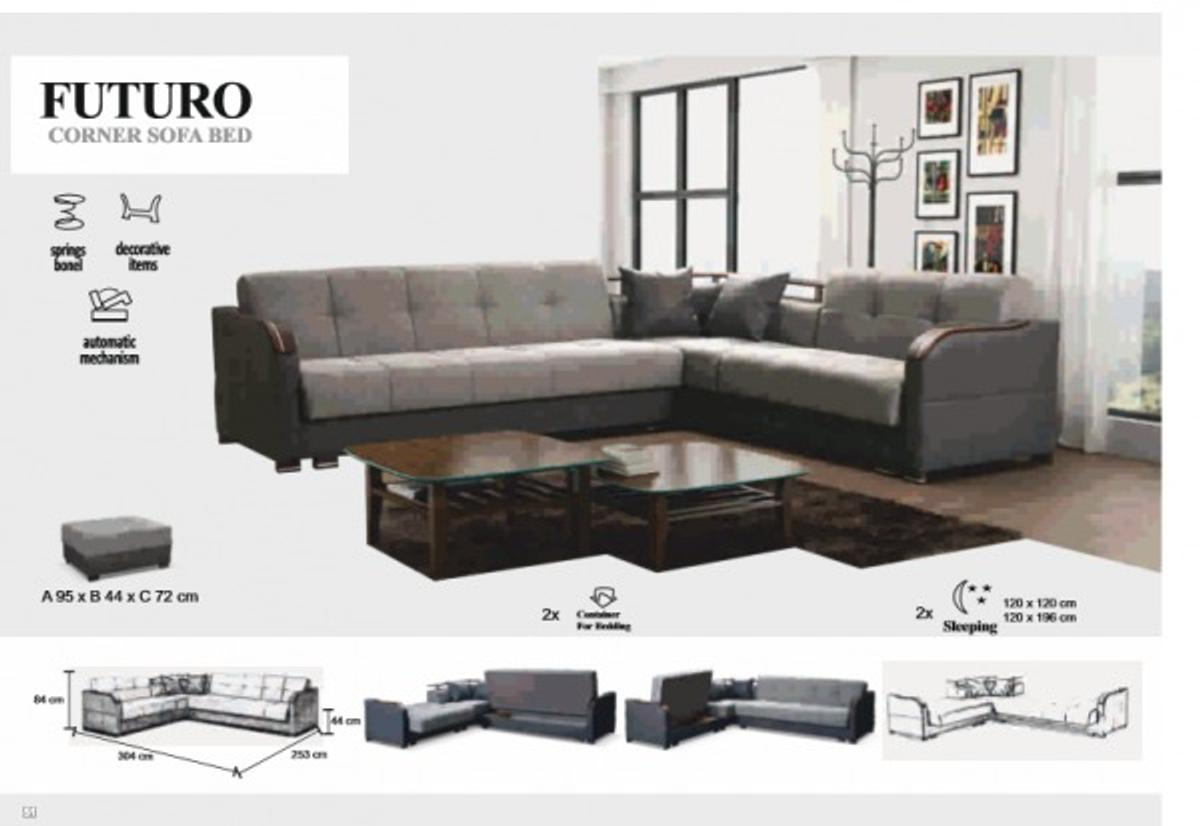 Groovy Brand New Futuro Corner Sofa Bed Pabps2019 Chair Design Images Pabps2019Com