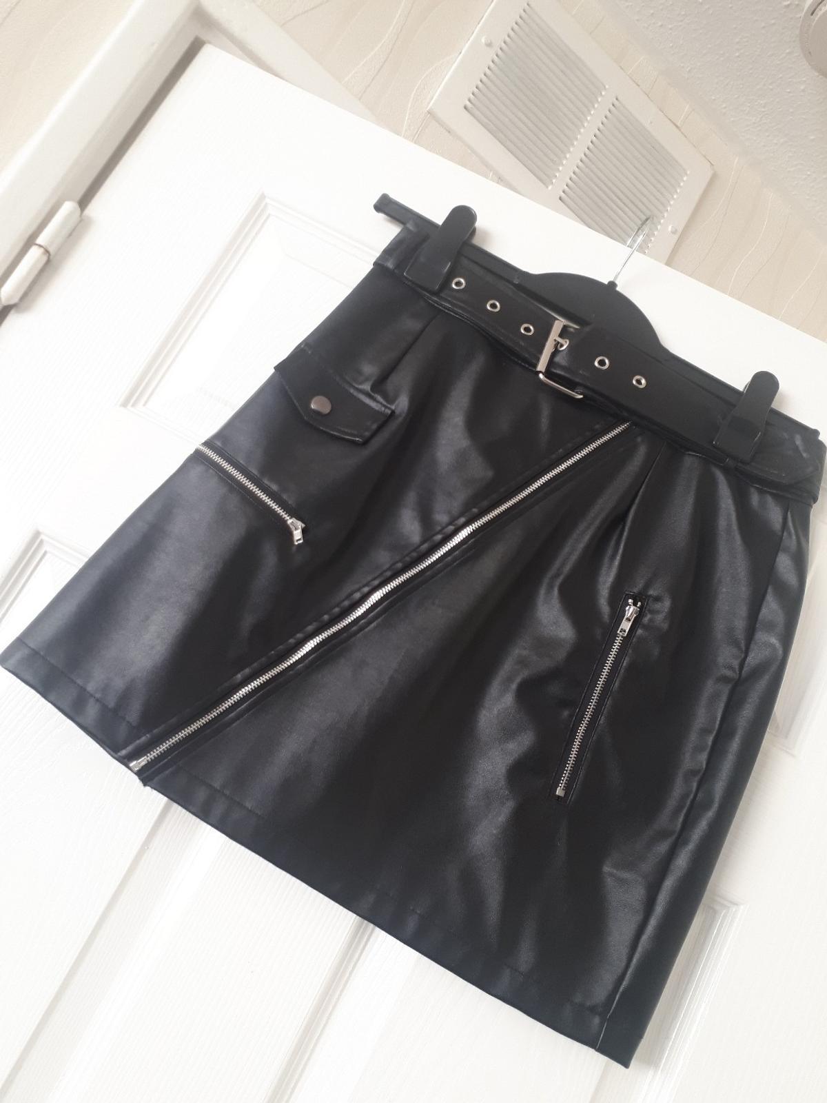 hot new products delicate colors unparalleled PRETTY LITTLE THING FAUX LEATHER SKIRT